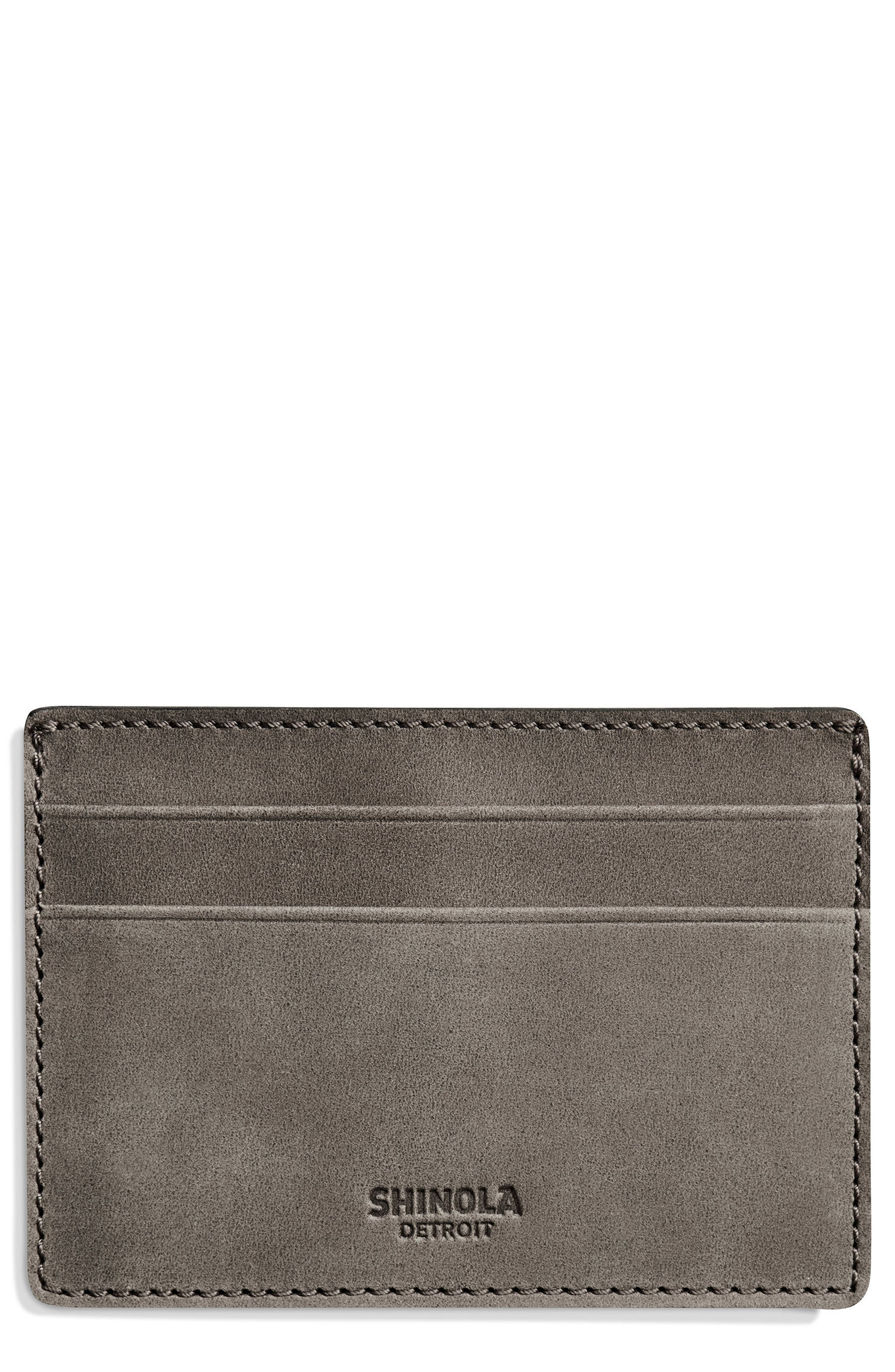 SHINOLA,                             Outrigger ID Leather Card Case,                             Main thumbnail 1, color,                             020