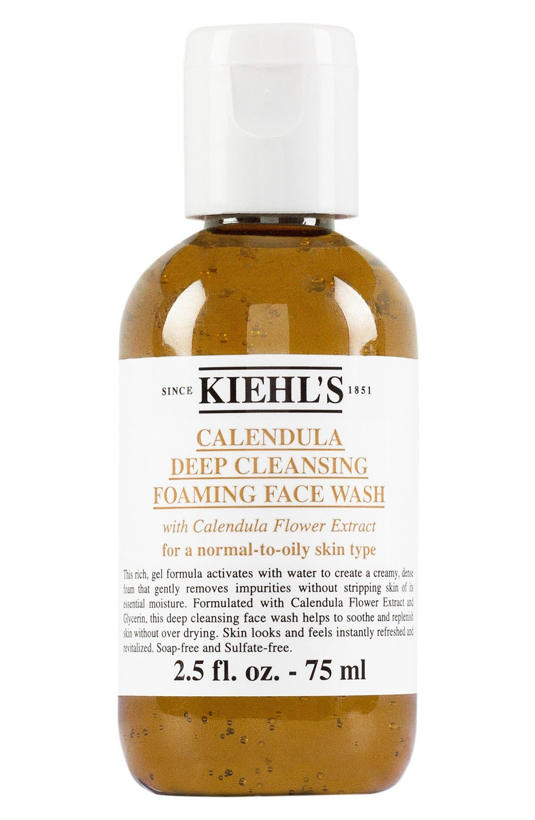 KIEHL'S SINCE 1851,                             Calendula Deep Cleansing Foaming Face Wash for Normal-to-Oily Skin,                             Alternate thumbnail 4, color,                             NO COLOR