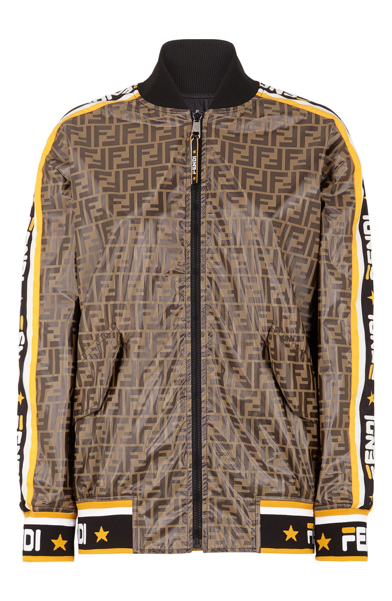 FENDI,                             x FILA Mania Logo Reversible Bomber Jacket,                             Alternate thumbnail 6, color,                             MULTI