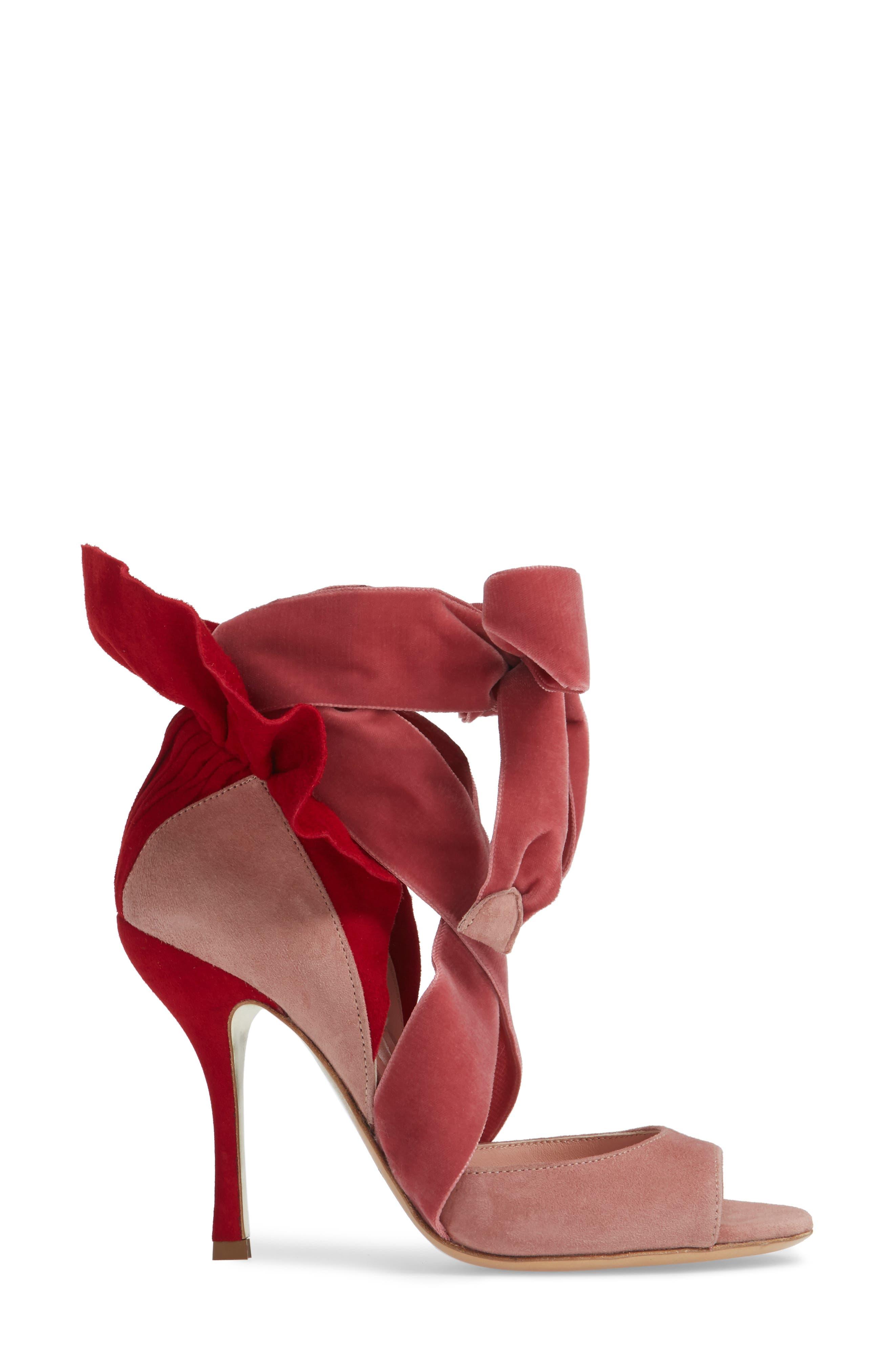 Frills For All Sandal,                             Alternate thumbnail 3, color,                             ROSE/ RED