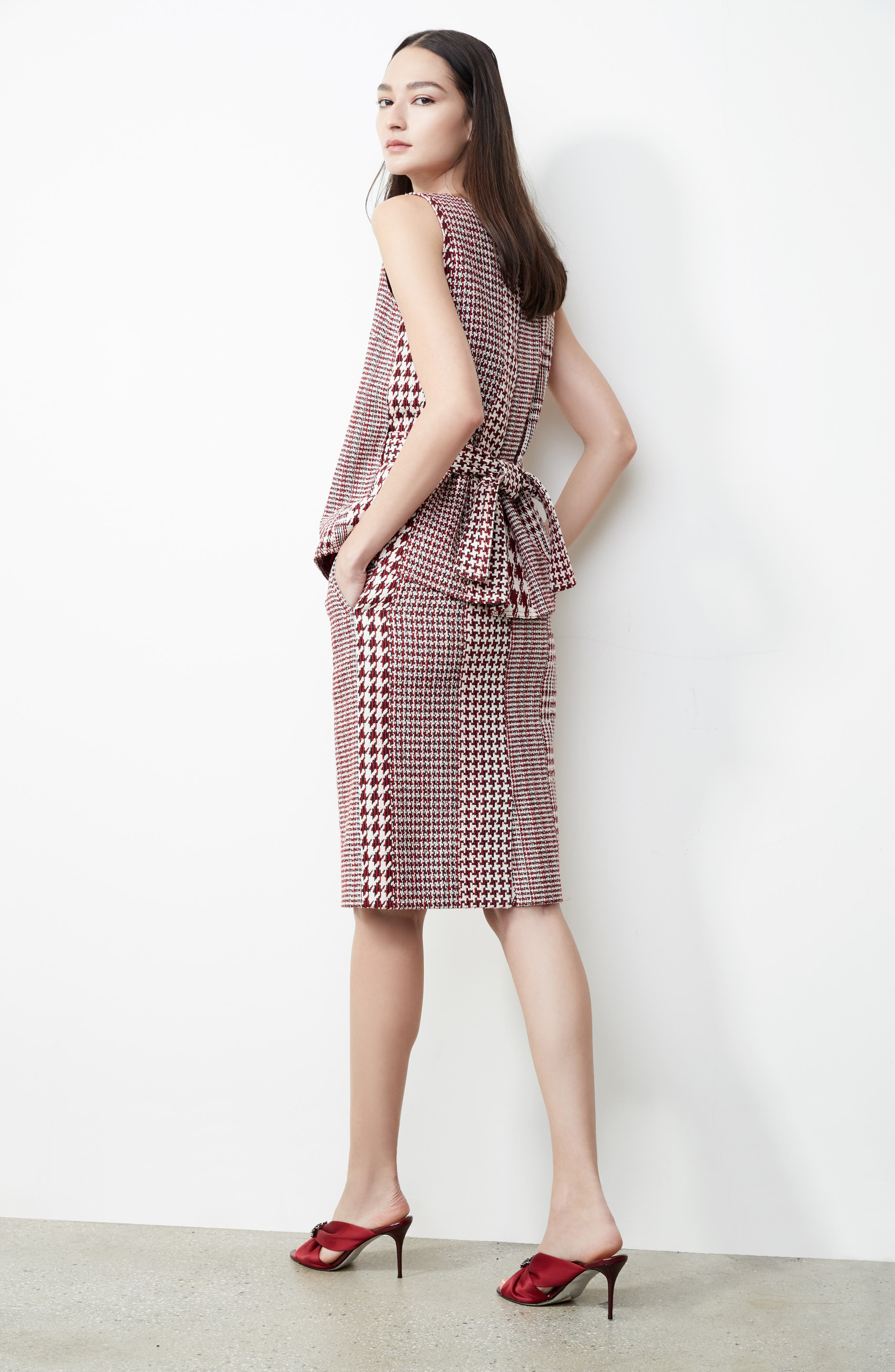 Houndstooth Pencil Skirt,                             Main thumbnail 1, color,                             600