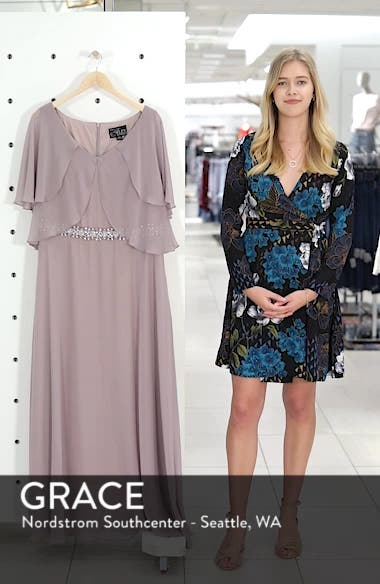 Embellished Waist Flutter Dress, sales video thumbnail
