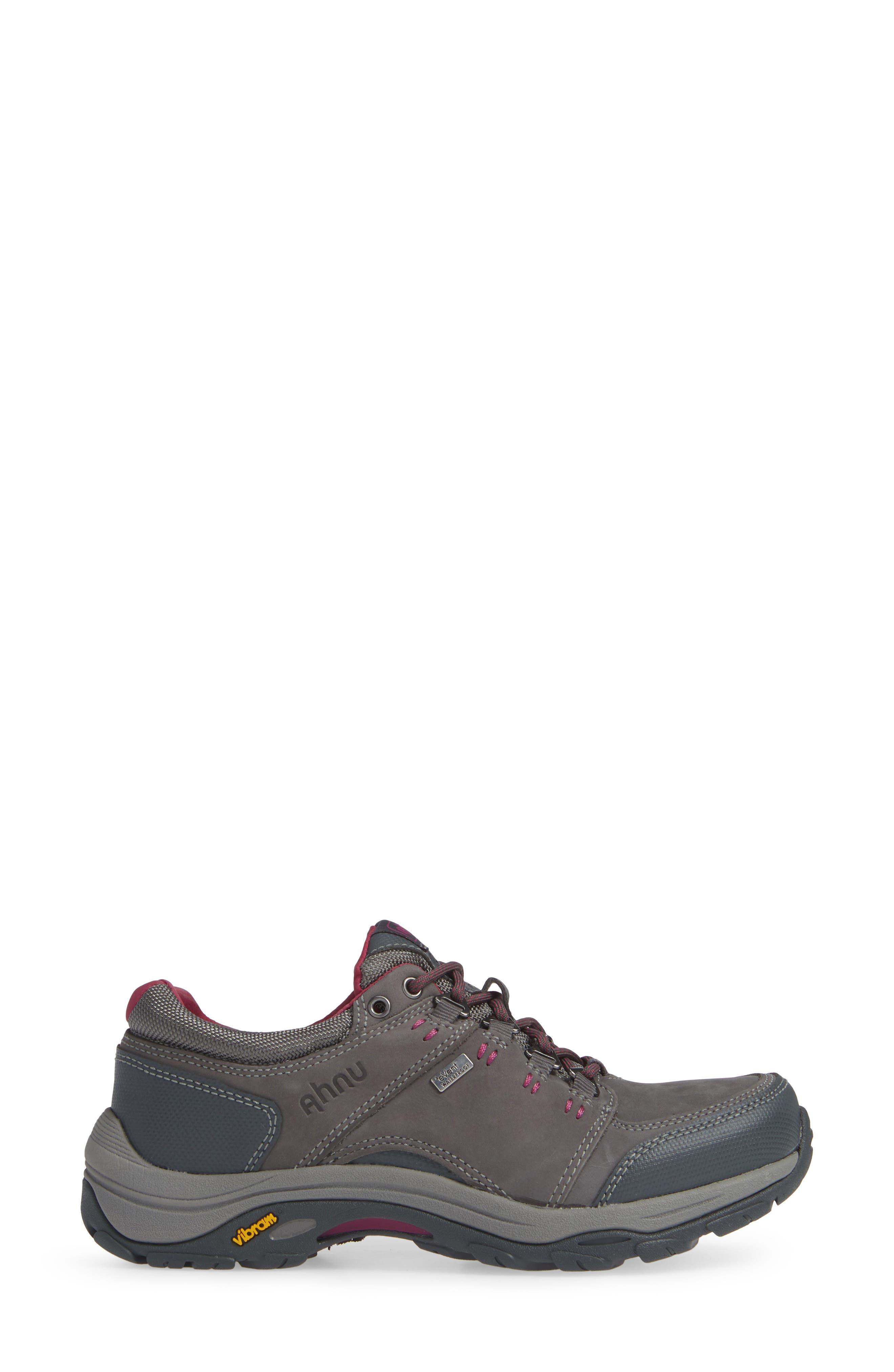TEVA,                             Ahnu by Teva Montara III Waterproof Hiking Sneaker,                             Alternate thumbnail 3, color,                             CHARCOAL GRAY NUBUCK LEATHER