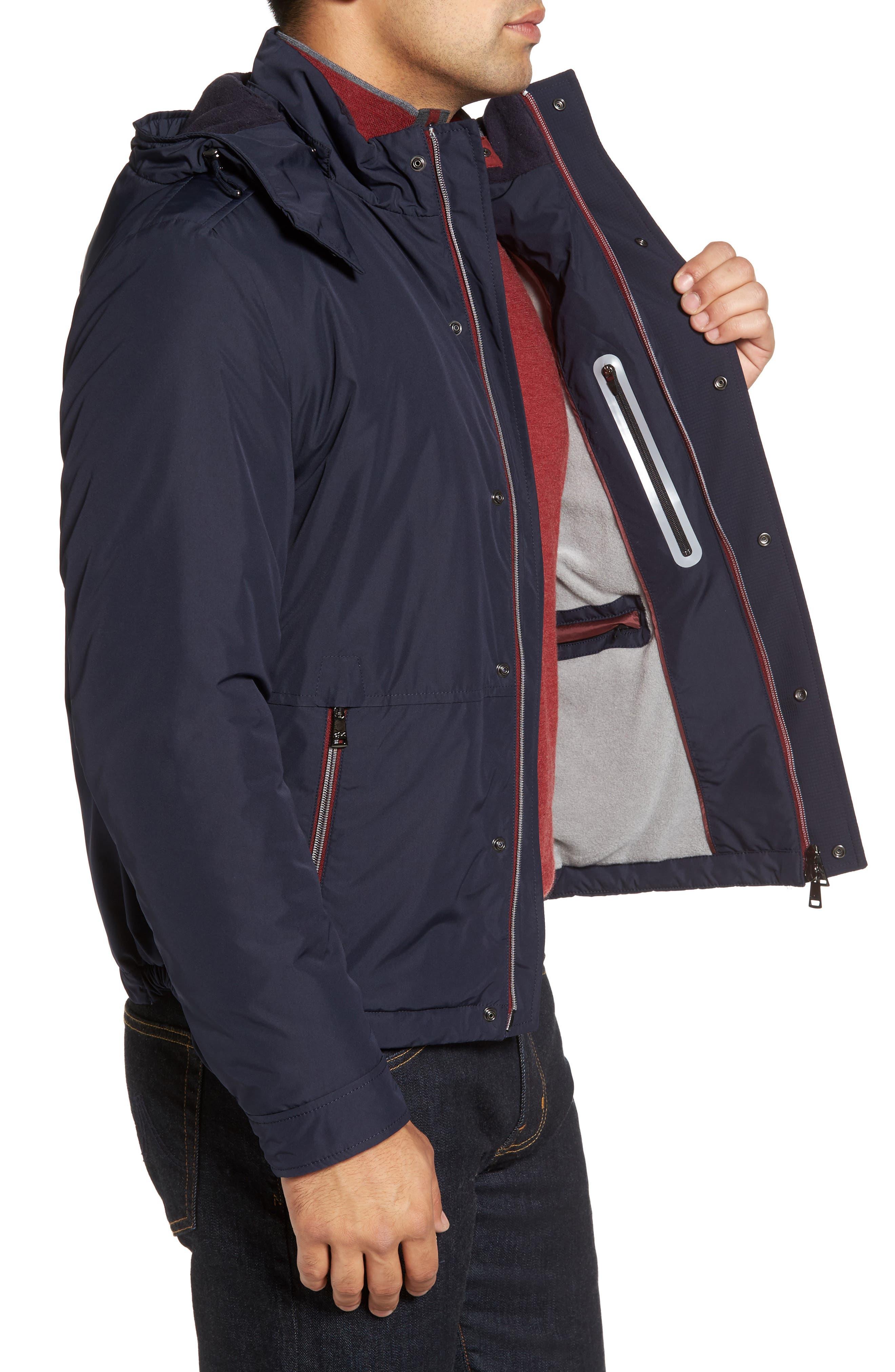 Paul&Shark Fleece Lined Hooded Jacket,                             Alternate thumbnail 3, color,                             400