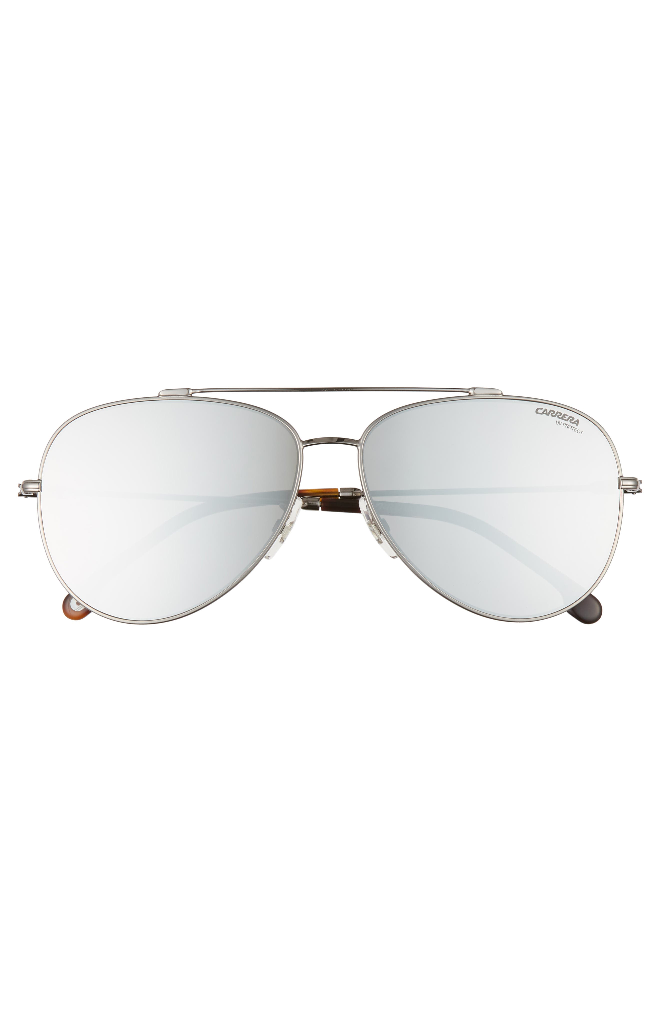 62mm Aviator Sunglasses,                             Alternate thumbnail 2, color,                             RUTHENIUM