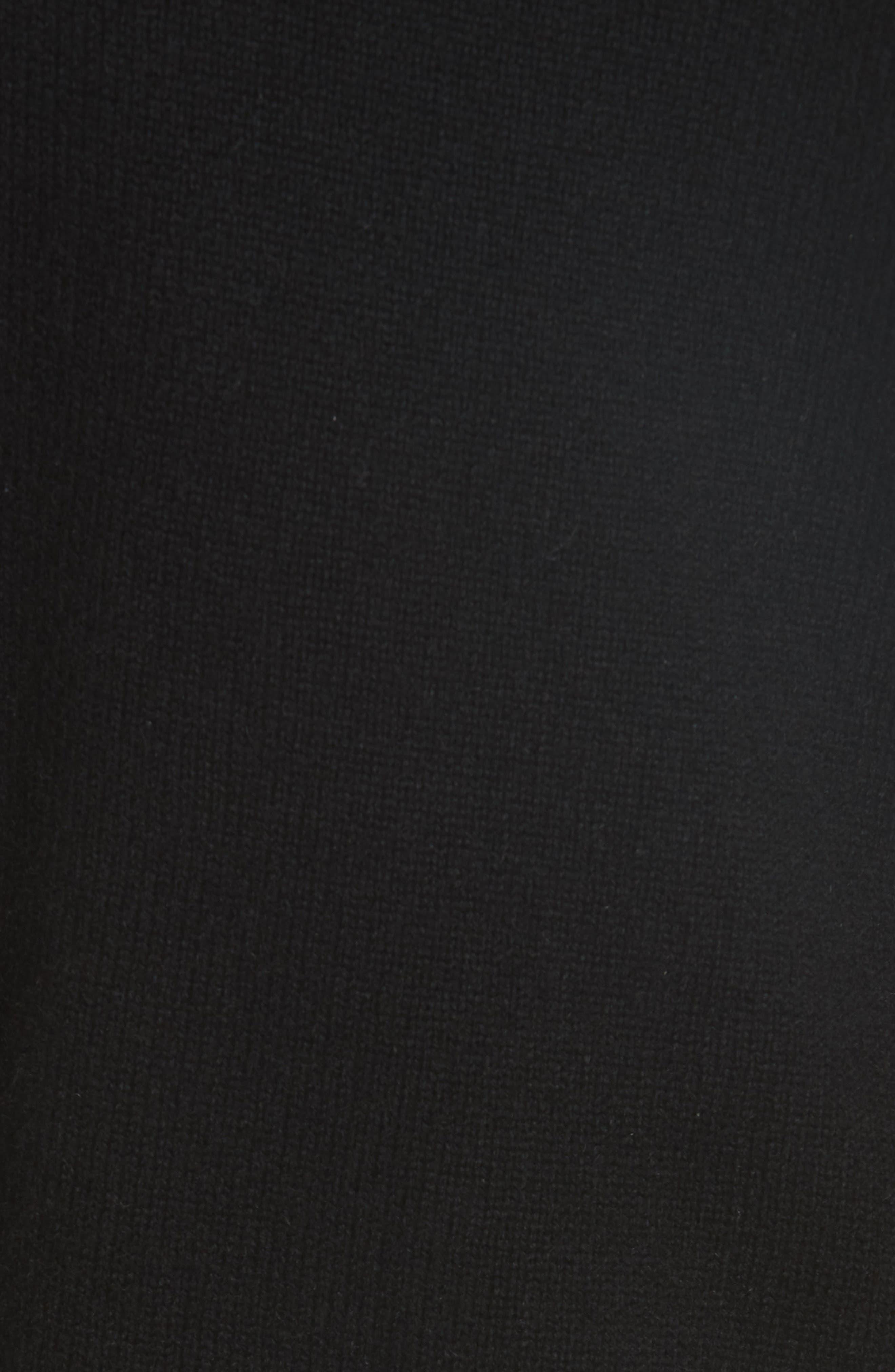 One Shoulder Slit Pullover Sweater,                             Alternate thumbnail 5, color,                             001