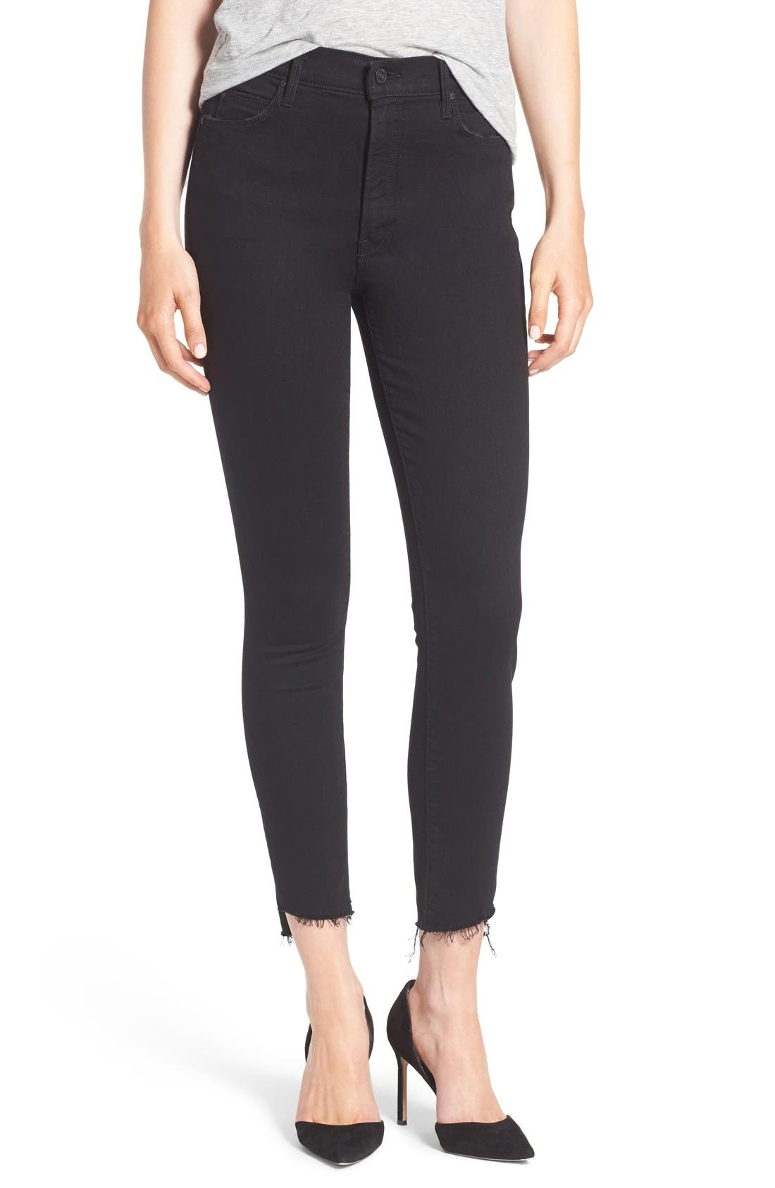 The Stunner Ankle Step Fray Jeans,                         Main,                         color, 001