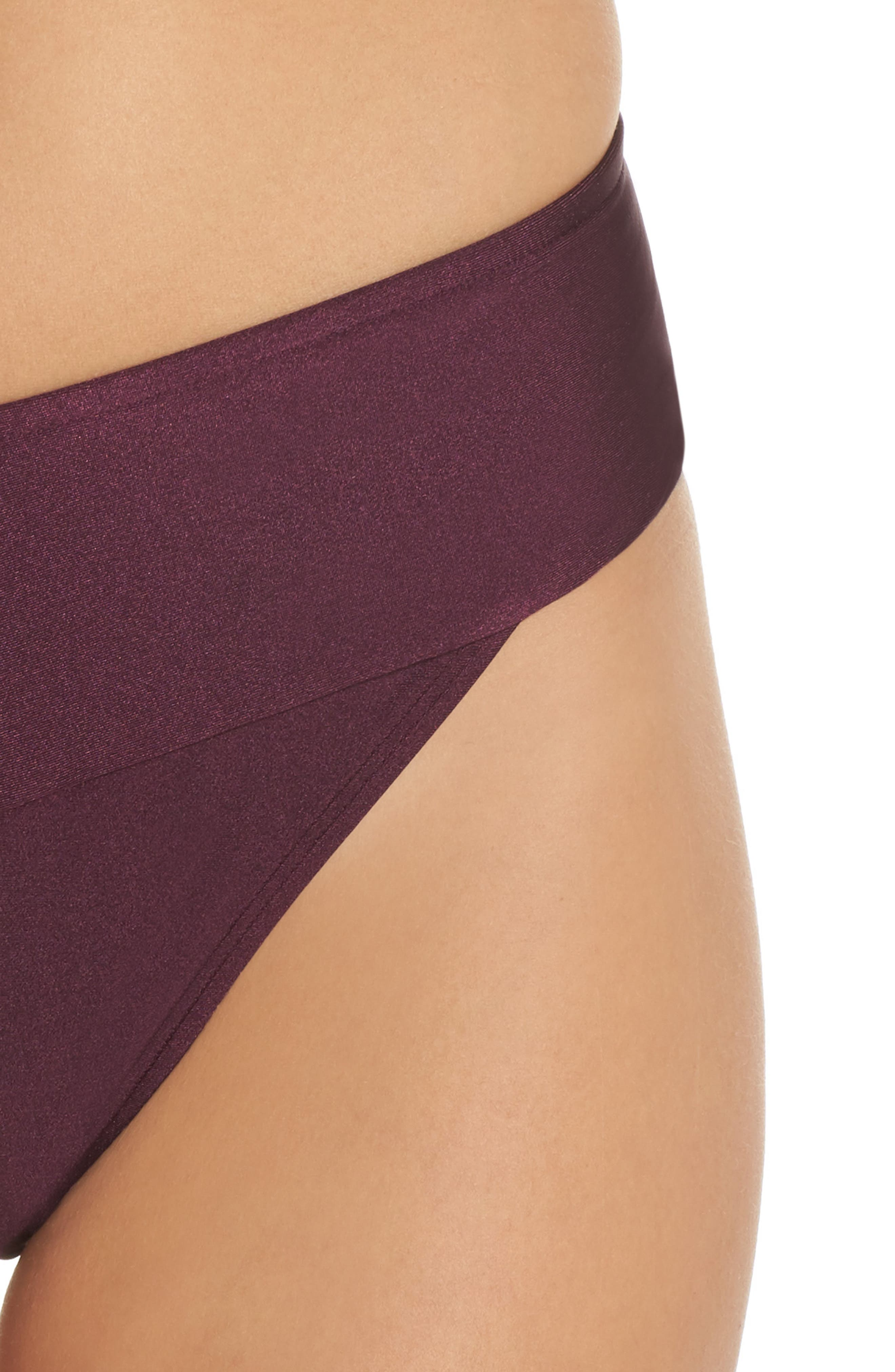 Ted Baker High Waisted Wrap Bikini Bottom,                             Alternate thumbnail 4, color,                             DEEP PURPLE