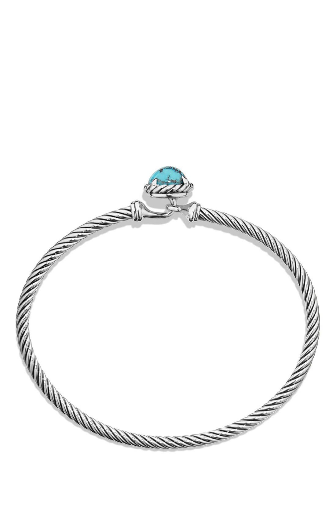 DAVID YURMAN,                             'Châtelaine' Bracelet,                             Alternate thumbnail 2, color,                             SILVER/ CHINESE TURQUOISE