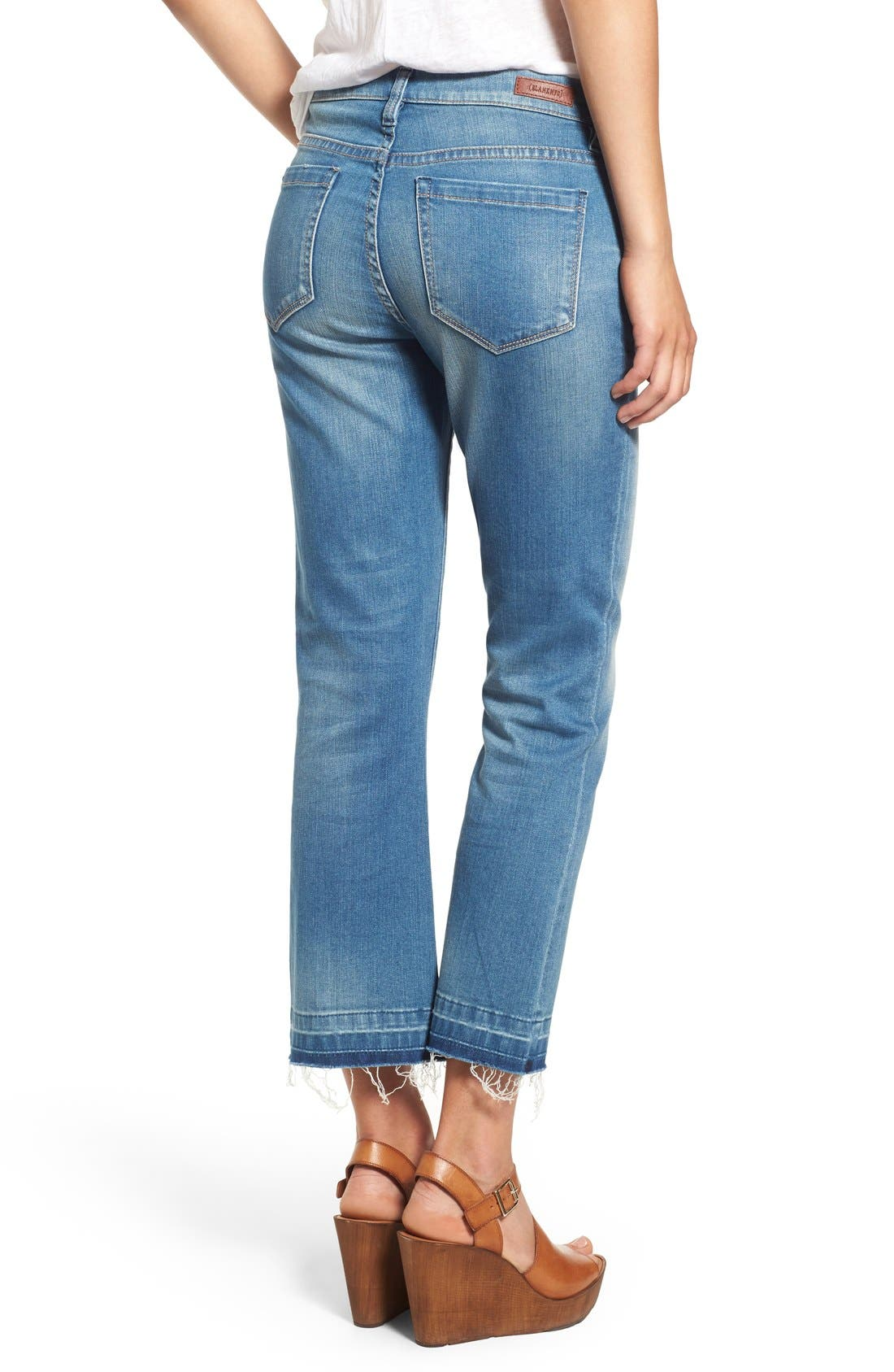 Released Hem Ankle Flare Jeans,                             Alternate thumbnail 3, color,                             420
