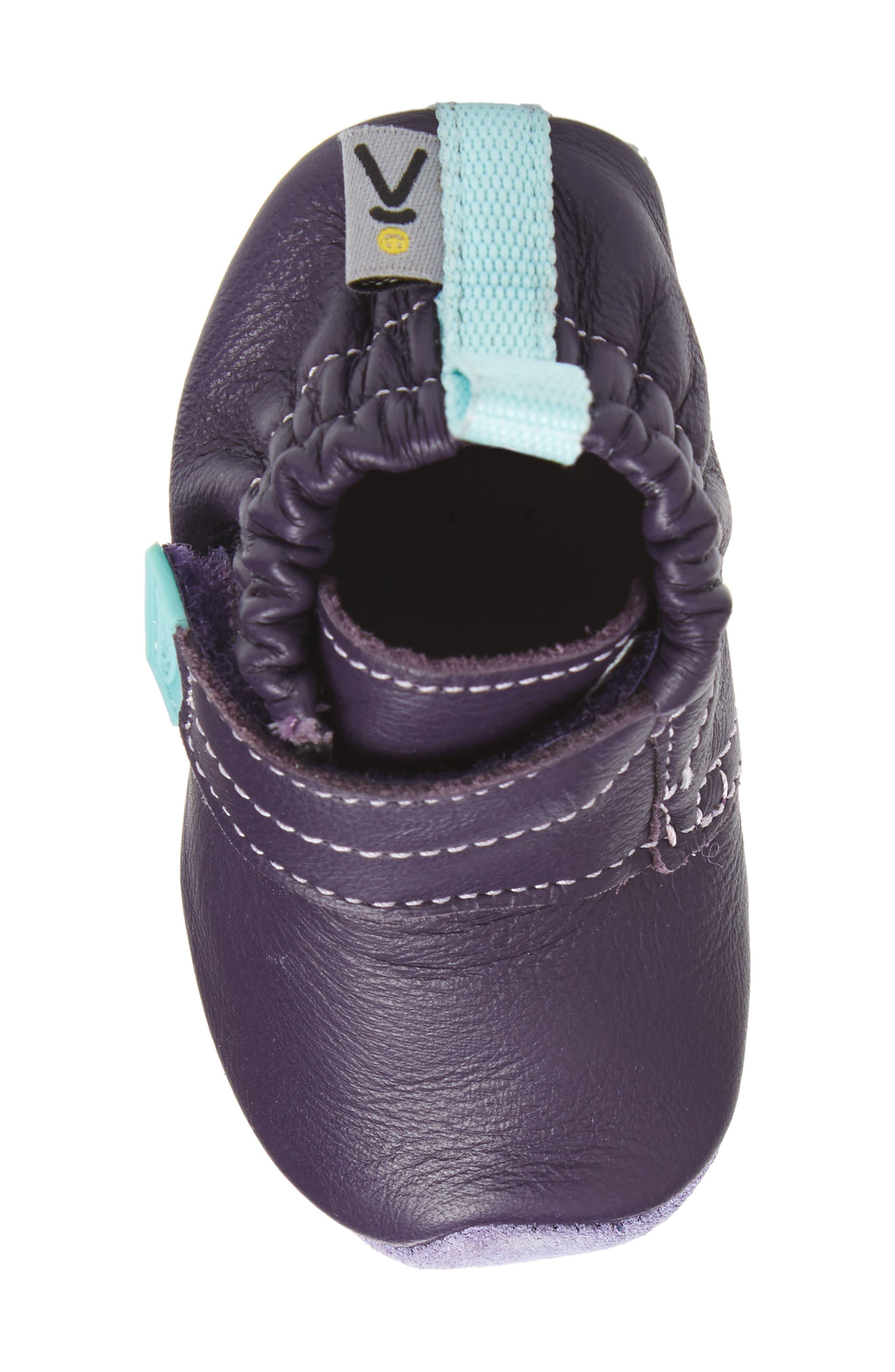 Leo Crib Shoe,                             Alternate thumbnail 5, color,                             PURPLE / SWEET LAVENDER