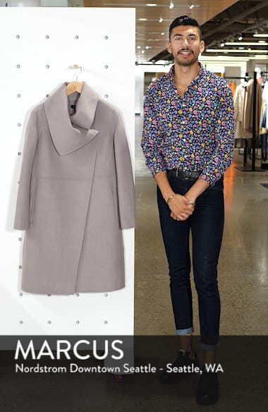 Double Faced Shawl Coat, sales video thumbnail