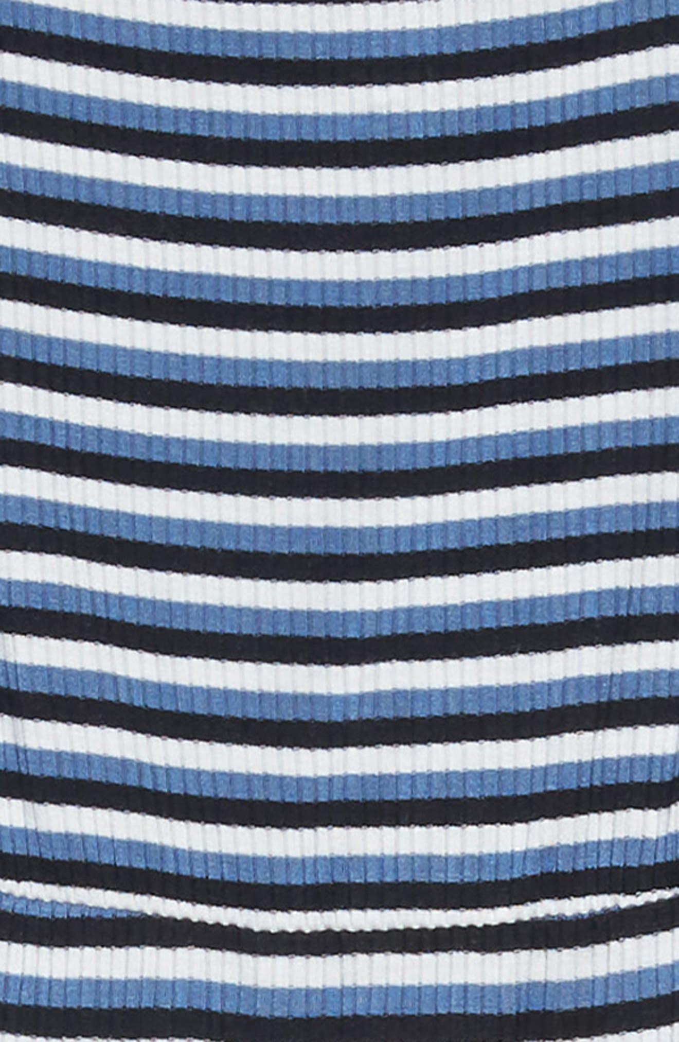 Square Neck A-Line Dress,                             Alternate thumbnail 3, color,                             NAVY