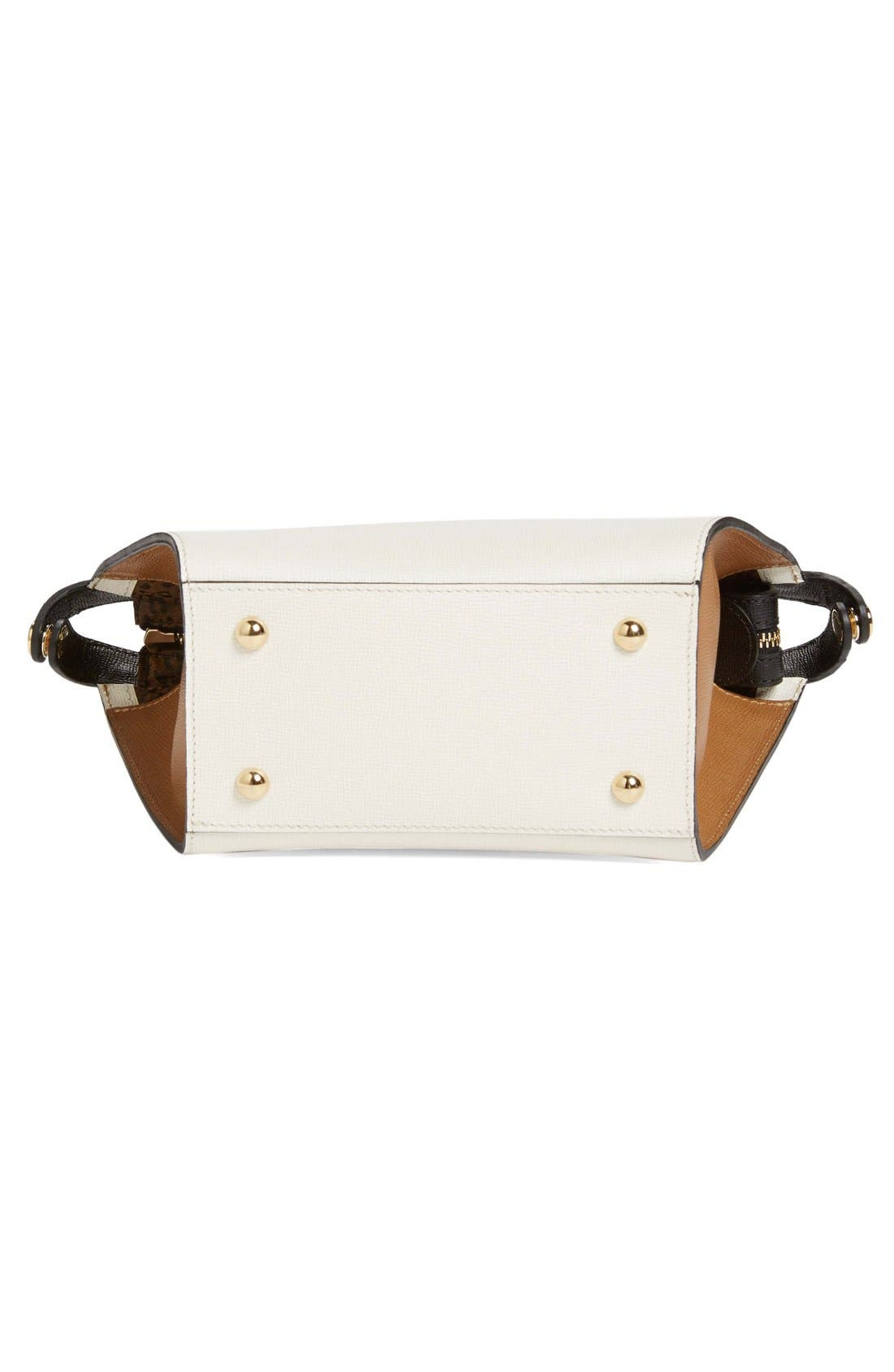 'Small Le Pliage - Heritage' Leather Handbag,                             Alternate thumbnail 4, color,                             100