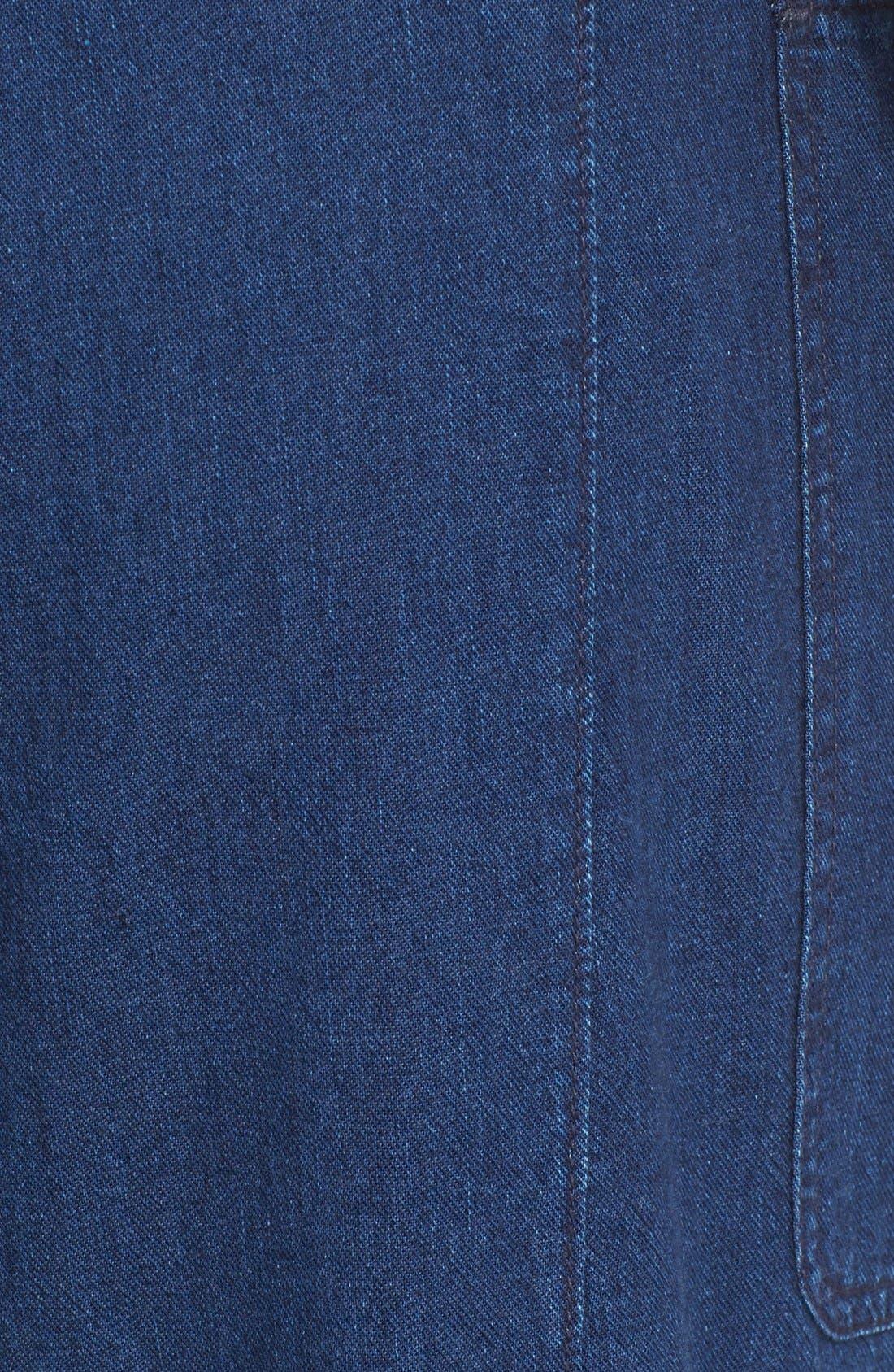 Rinsed Denim Patch Pocket Utility Pants,                             Alternate thumbnail 6, color,                             400