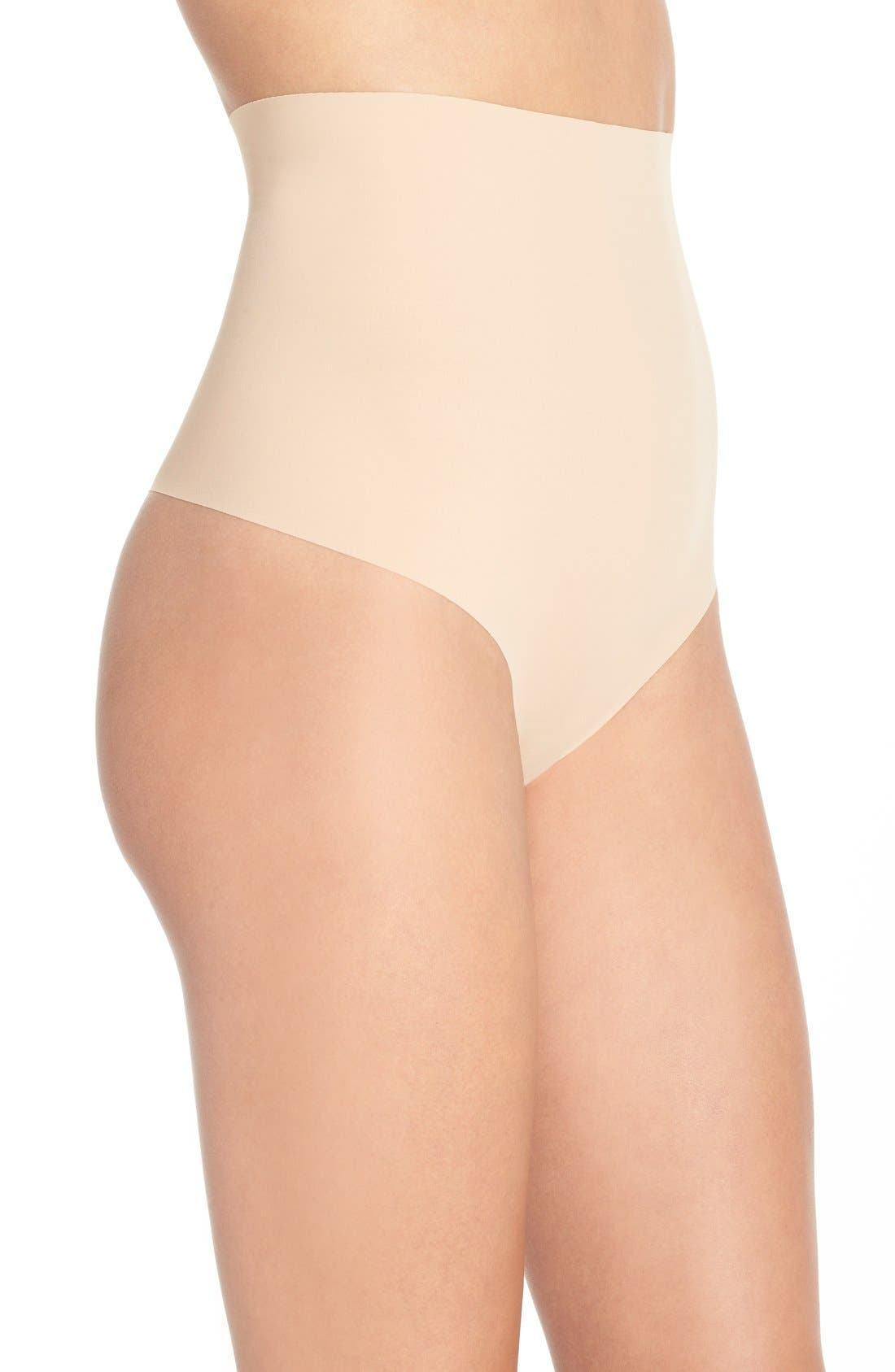 Control Top Thong,                             Alternate thumbnail 3, color,                             BEIGE