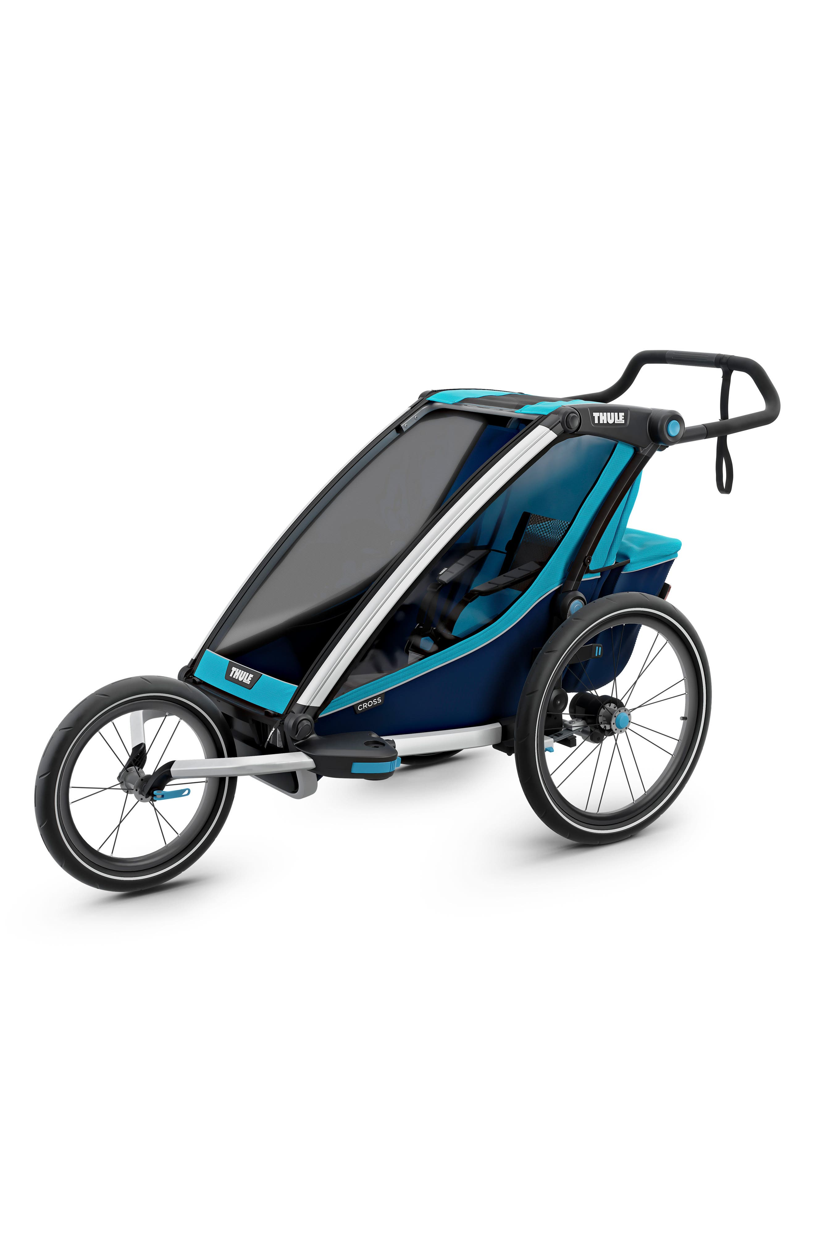Chariot Cross 1 Multisport Cycle Trailer/Stroller,                             Alternate thumbnail 6, color,                             THULE BLUE
