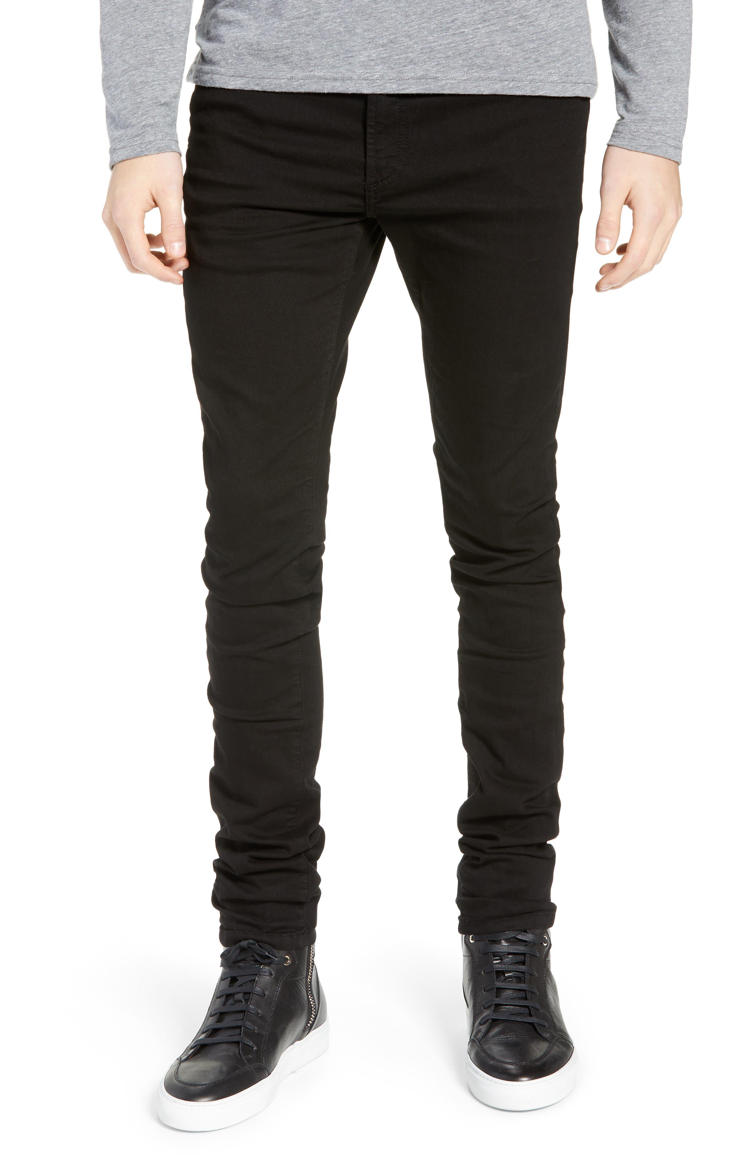 MONFRERE Greyson Skinny Fit Jeans in Noir