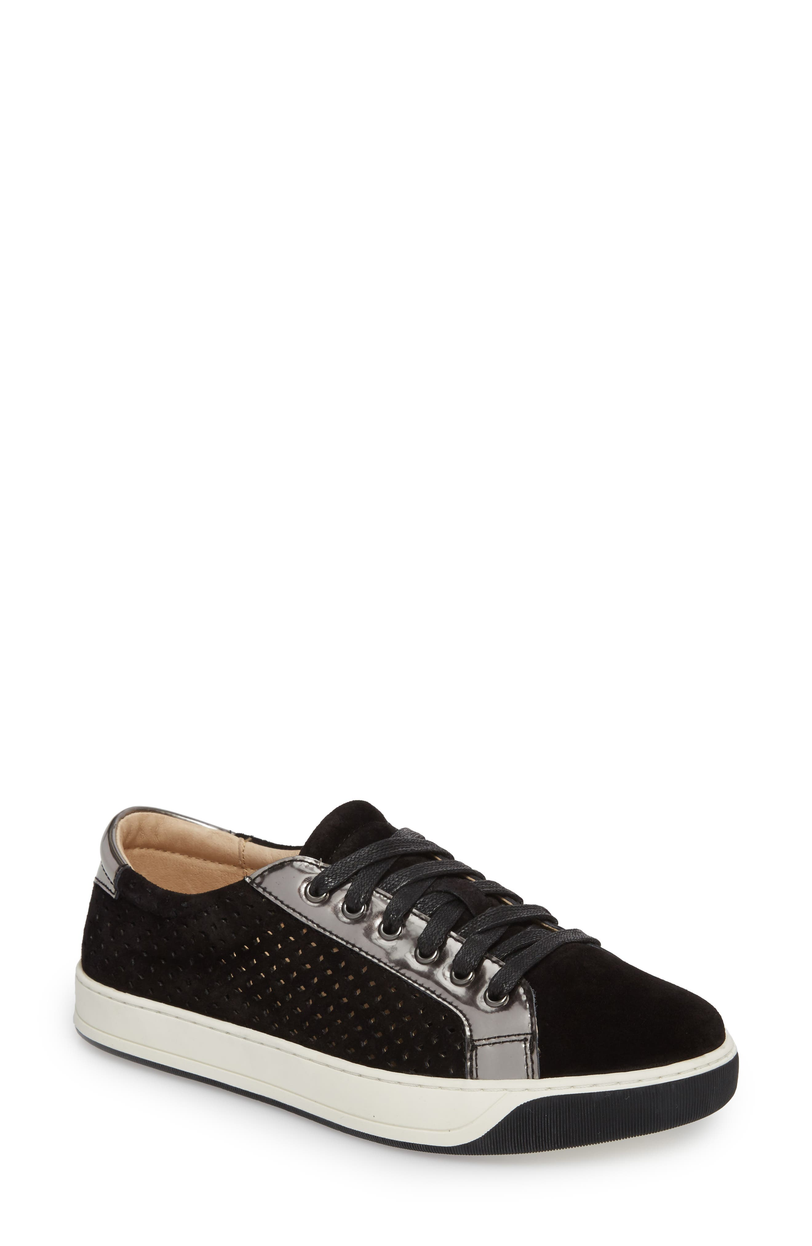 Emerson Perforated Sneaker,                             Main thumbnail 1, color,                             001