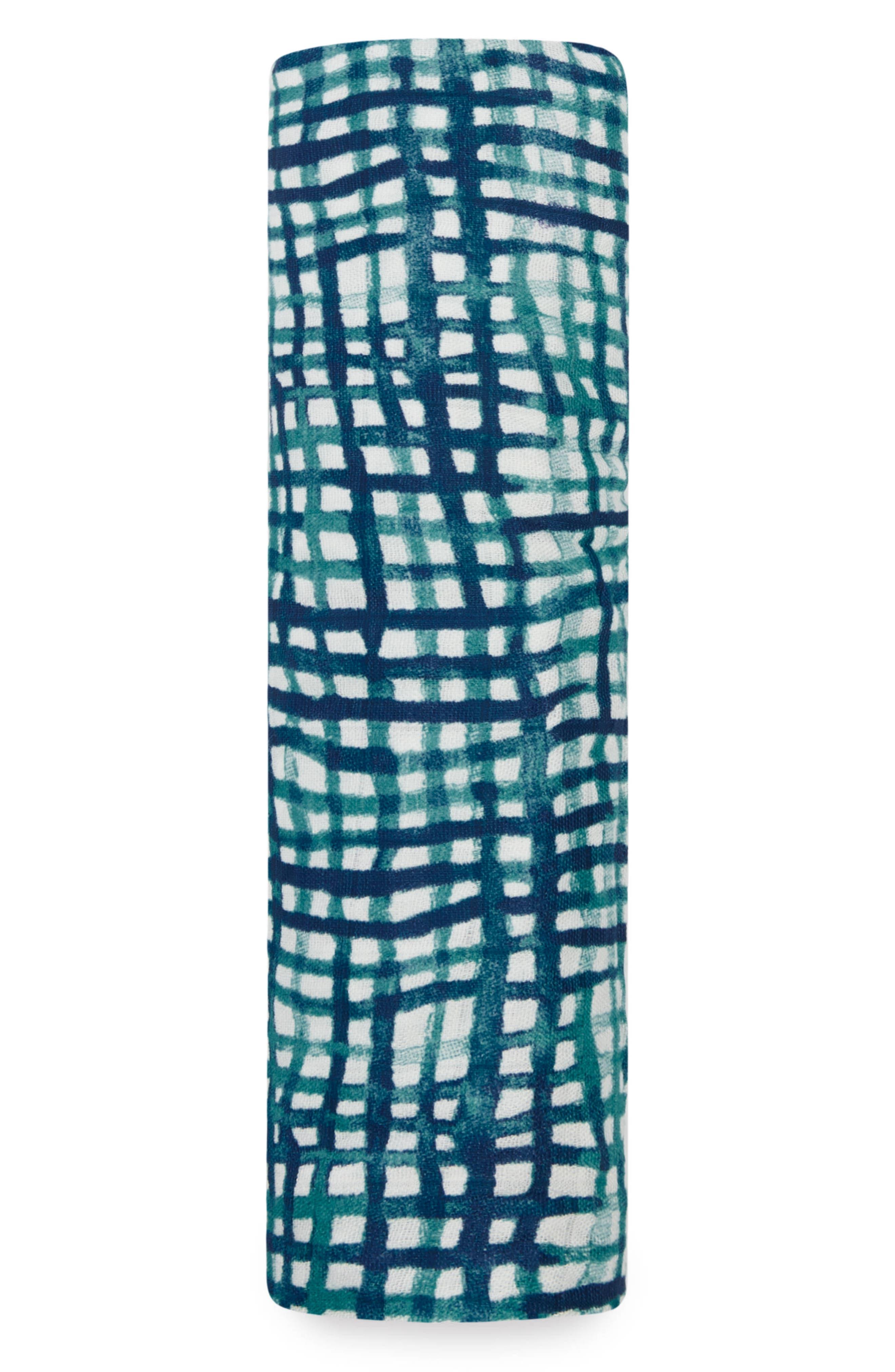 Silky Soft Swaddling Cloth,                             Main thumbnail 1, color,                             SEAPORT