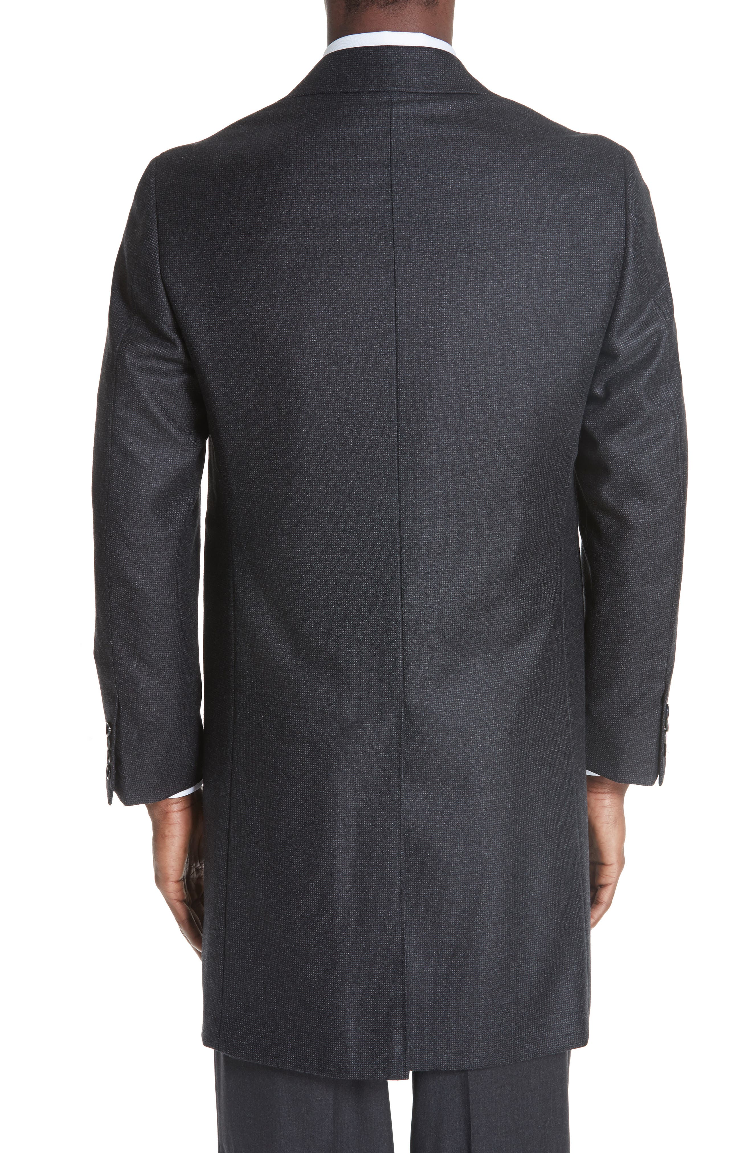 Solid Wool Top Coat,                             Alternate thumbnail 2, color,                             CHARCOAL
