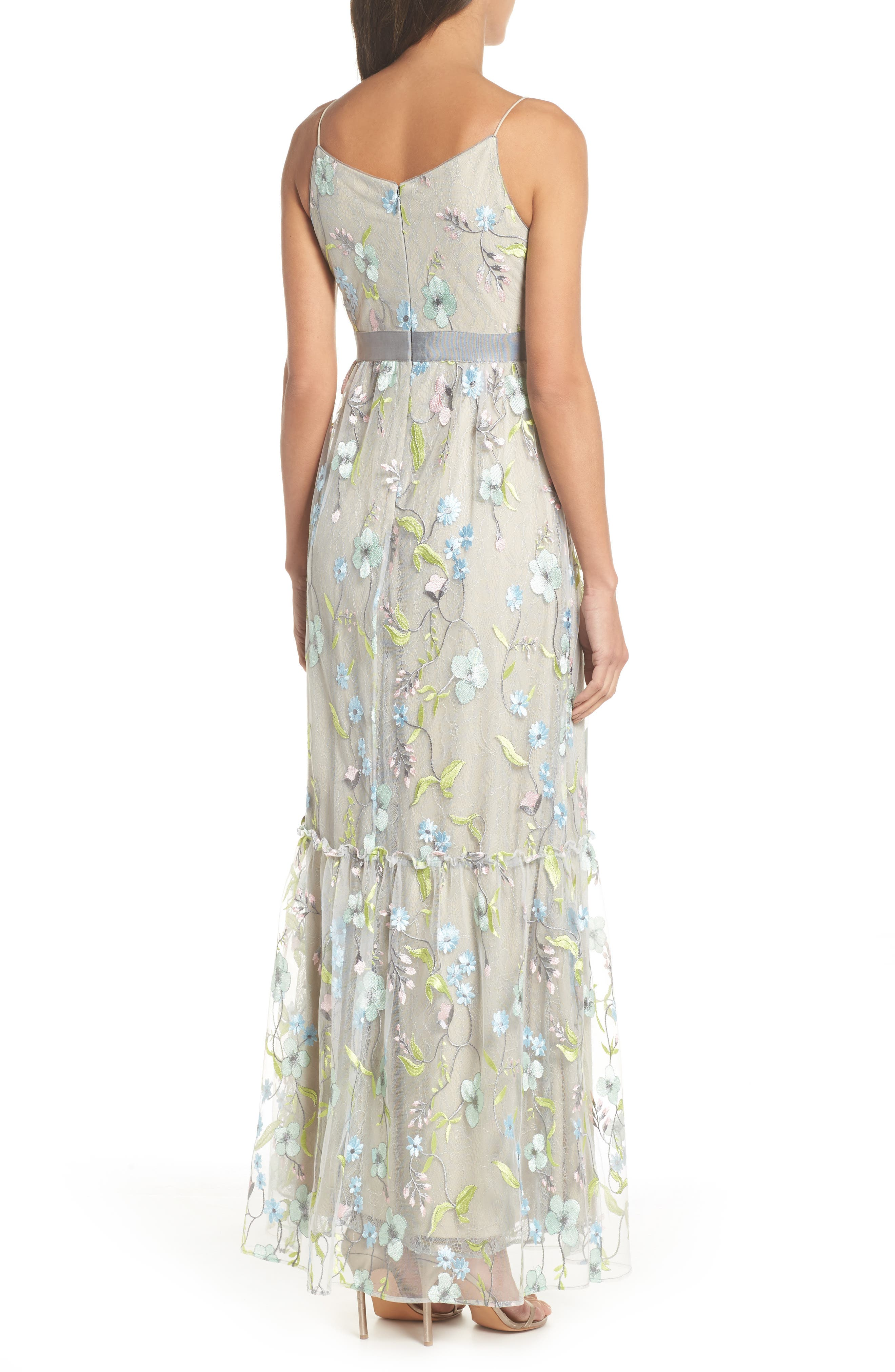 Embroidered Gown,                             Alternate thumbnail 2, color,                             320