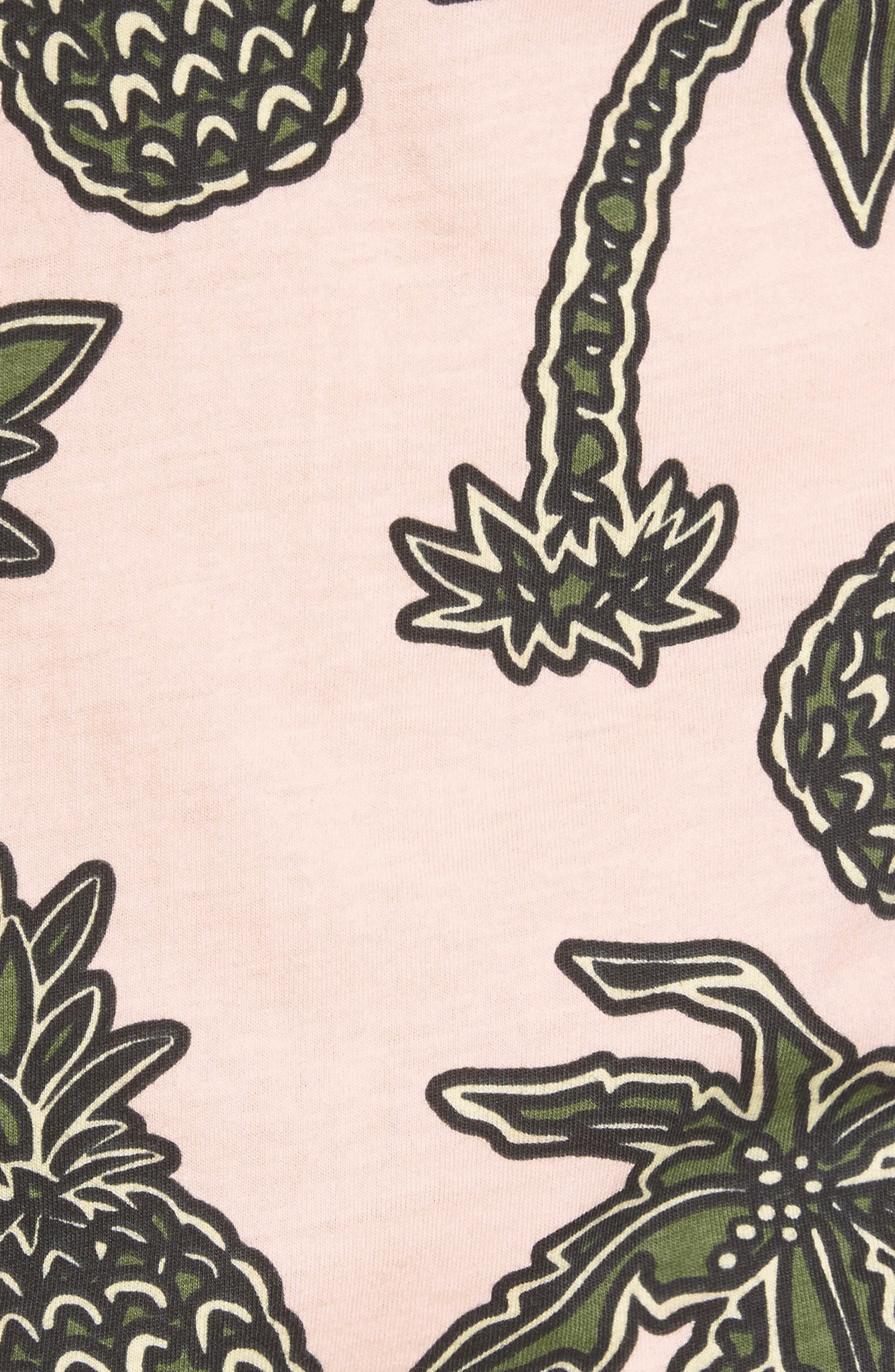 Maxwell Pineapple Print T-Shirt,                             Alternate thumbnail 5, color,                             663