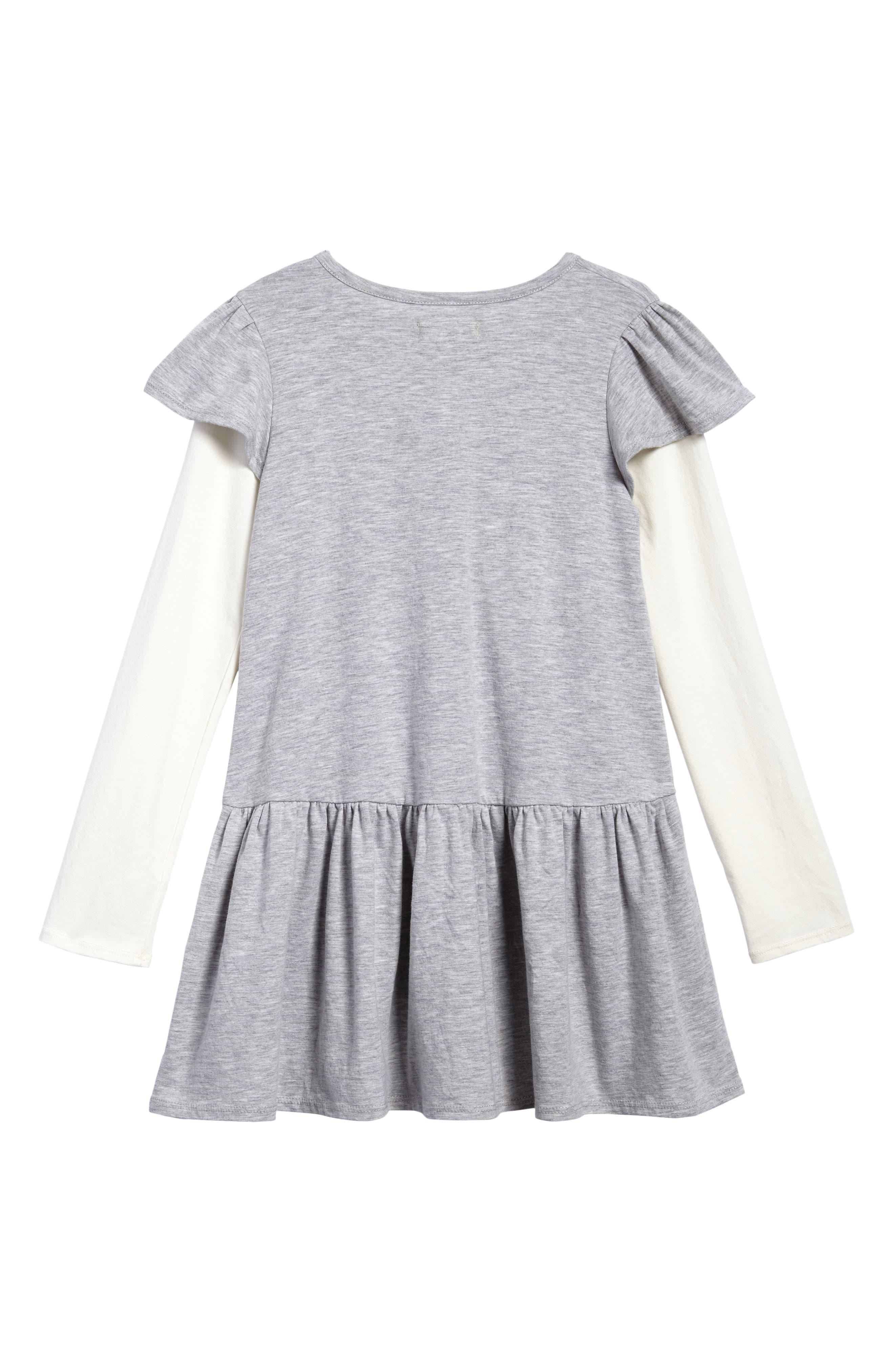 Flutter Sleeve Knit Dress,                             Alternate thumbnail 3, color,