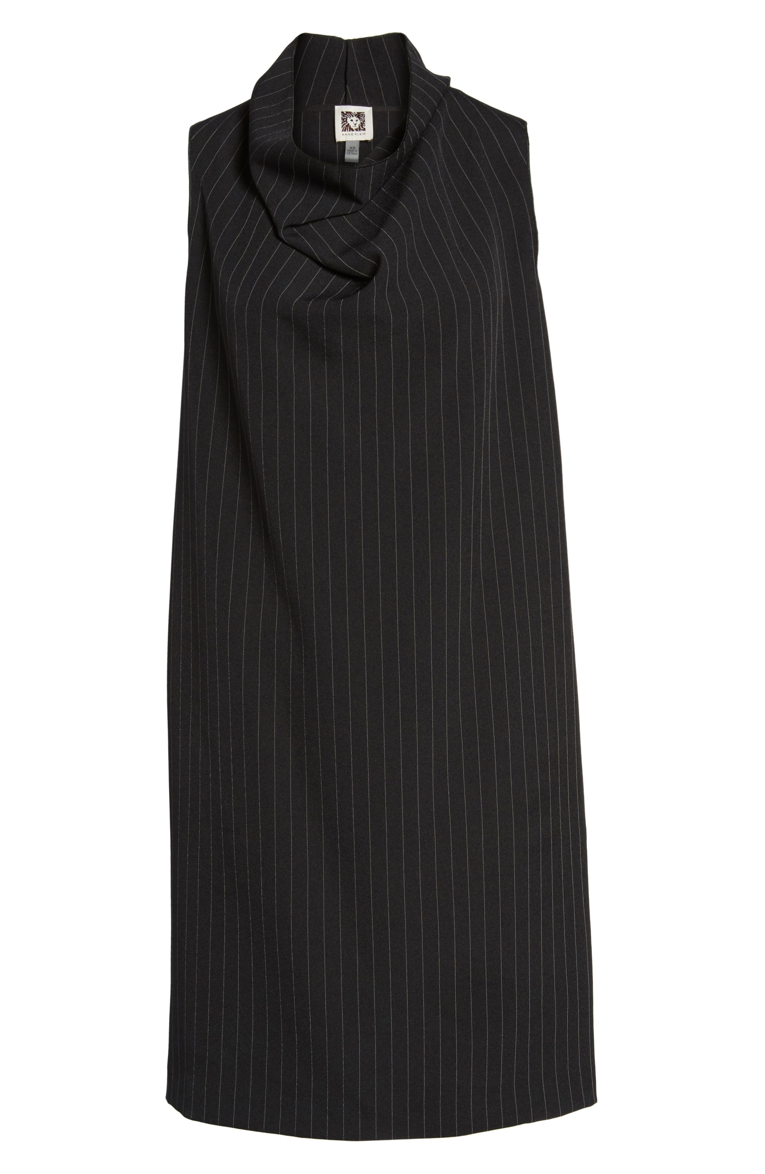 Pinstripe Shift Dress,                             Alternate thumbnail 6, color,