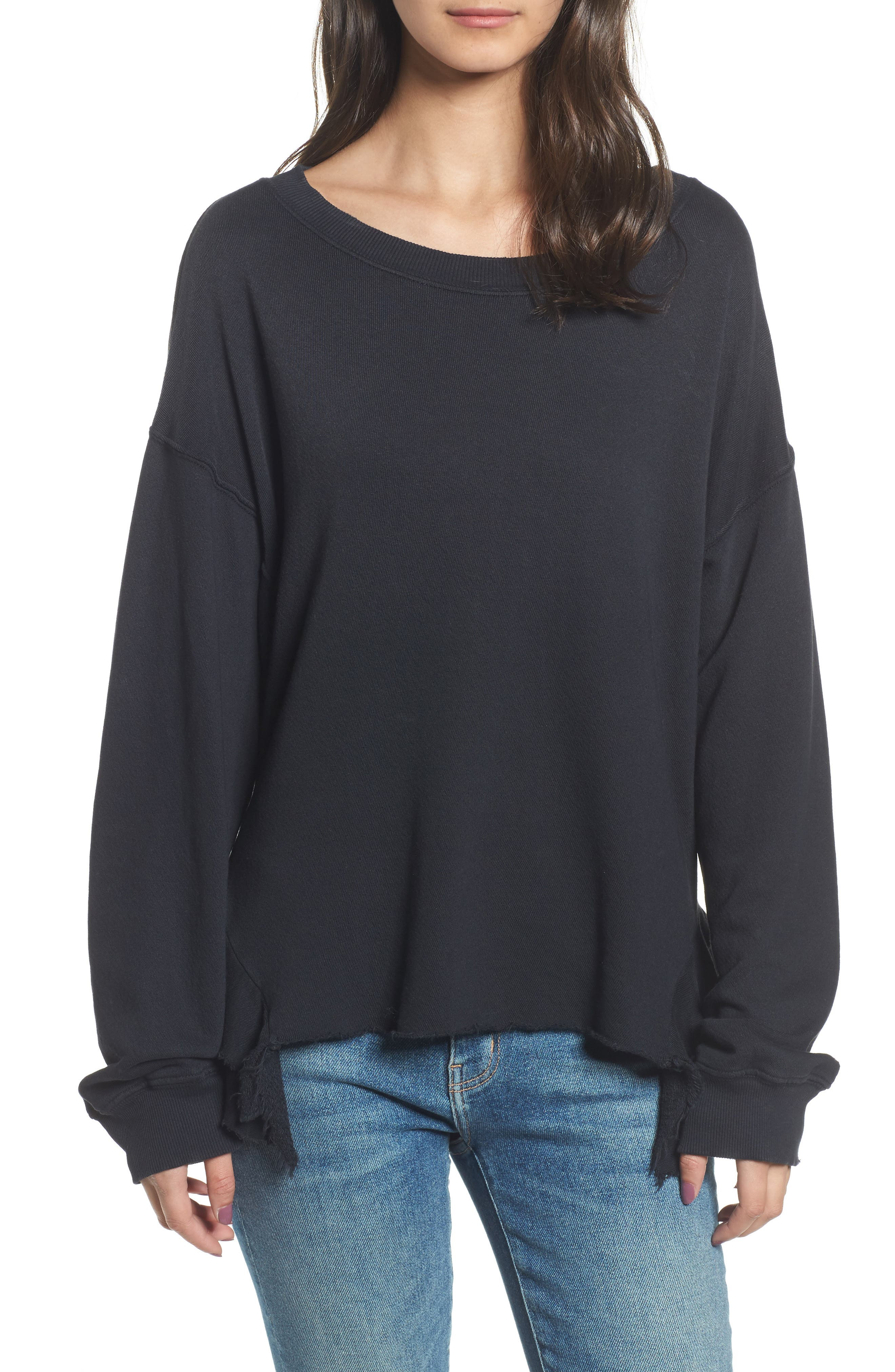 The Slouchy Ruffle Sweatshirt,                             Main thumbnail 1, color,                             006