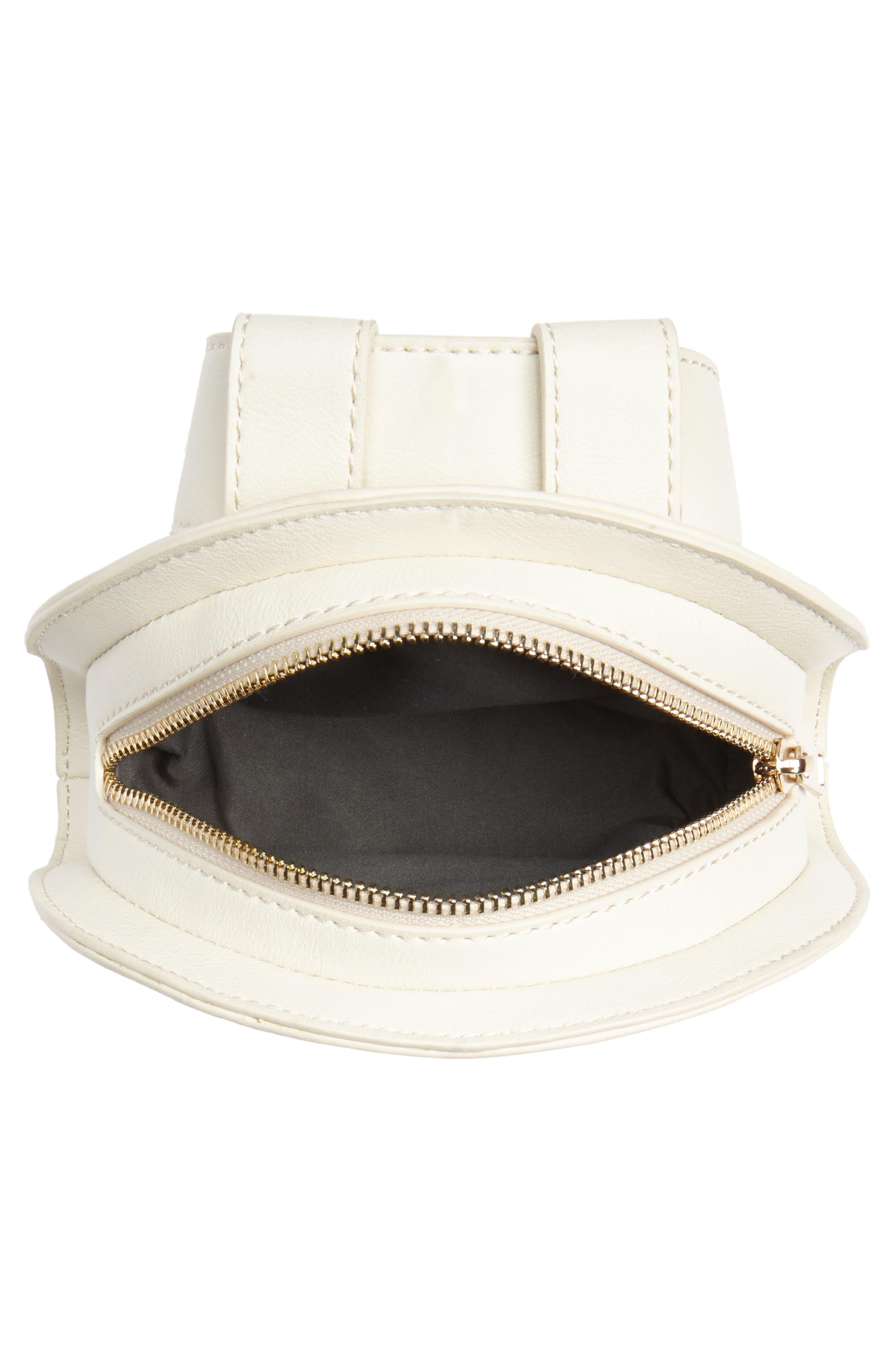 Straw & Faux Leather Belt Bag,                             Alternate thumbnail 4, color,                             250