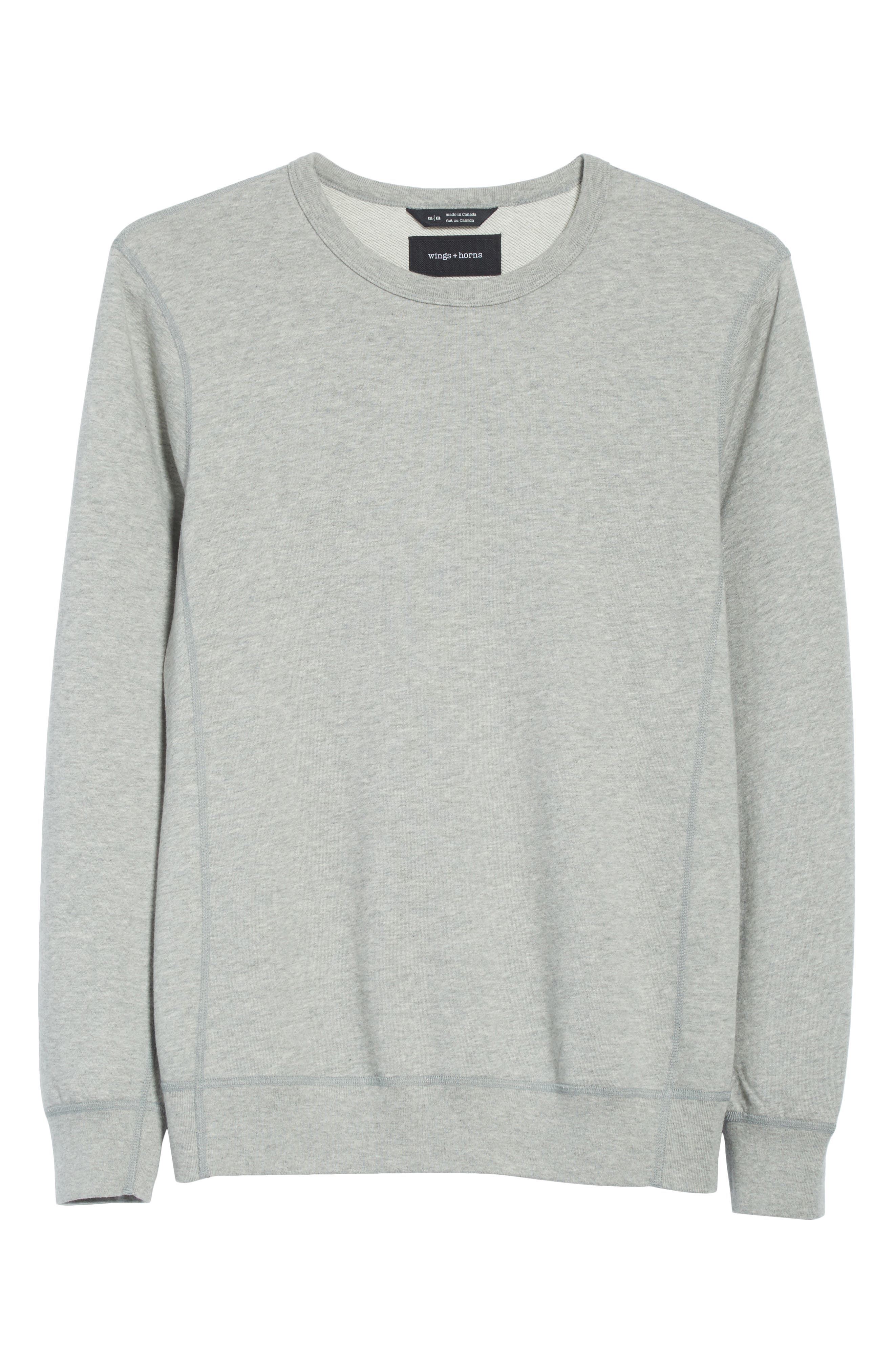 Crewneck Sweatshirt,                             Alternate thumbnail 6, color,                             060