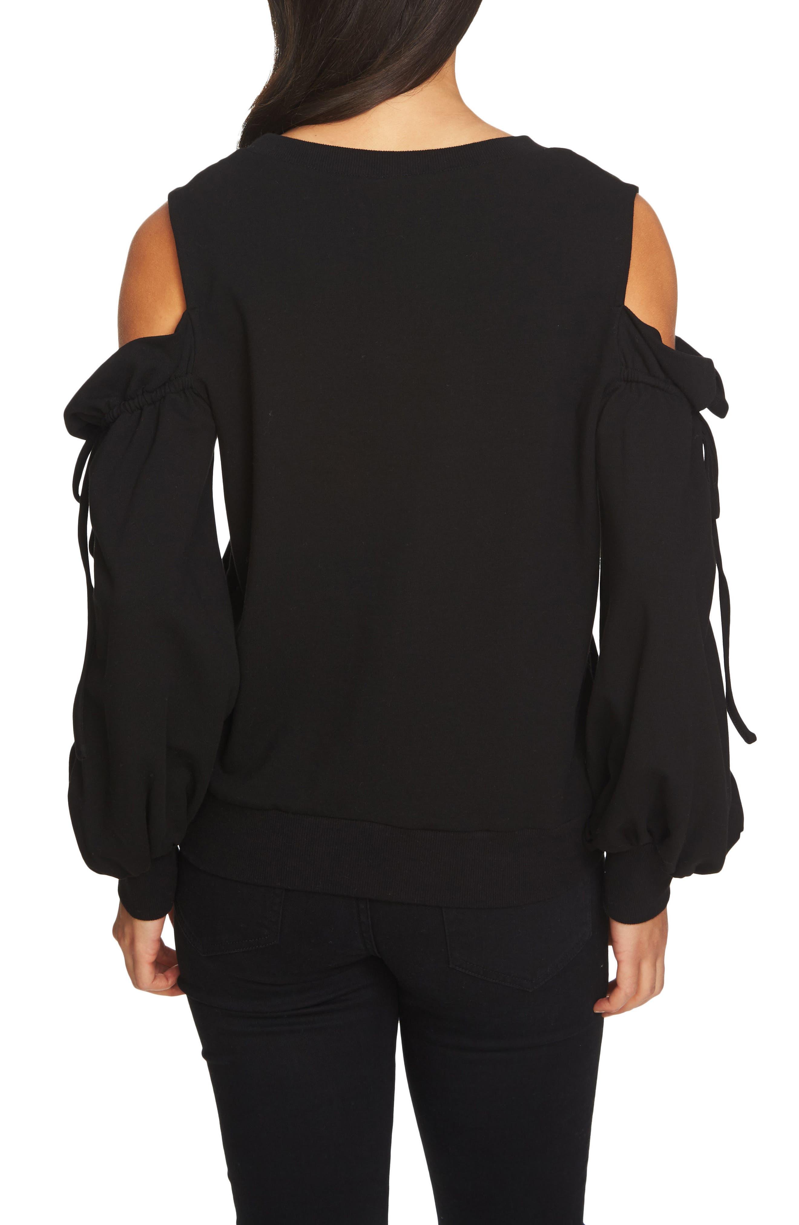 Cold Shoulder Blouson Sweater,                             Alternate thumbnail 2, color,                             006
