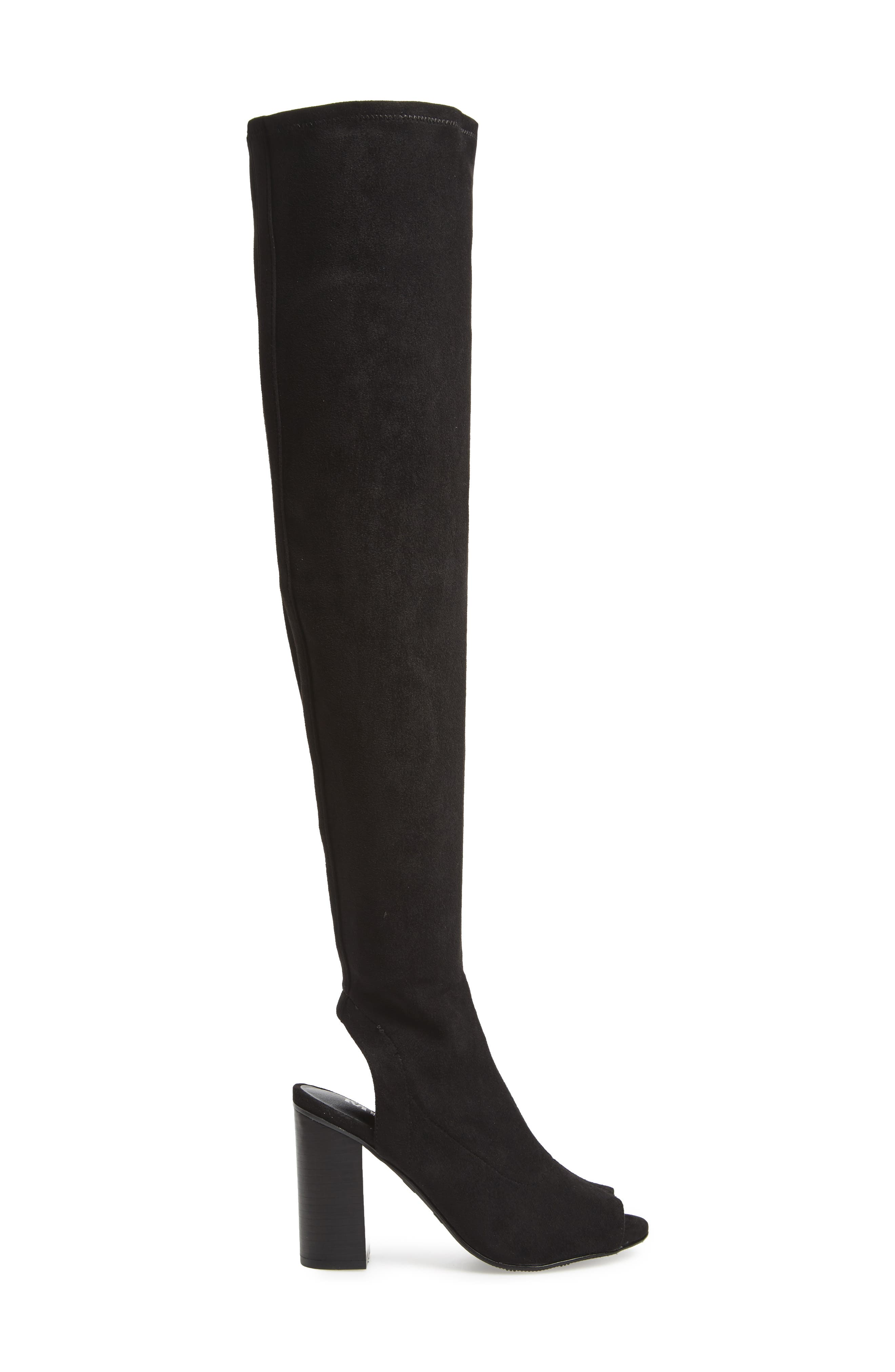 Robyn Cutout Over the Knee Boot,                             Alternate thumbnail 3, color,                             001