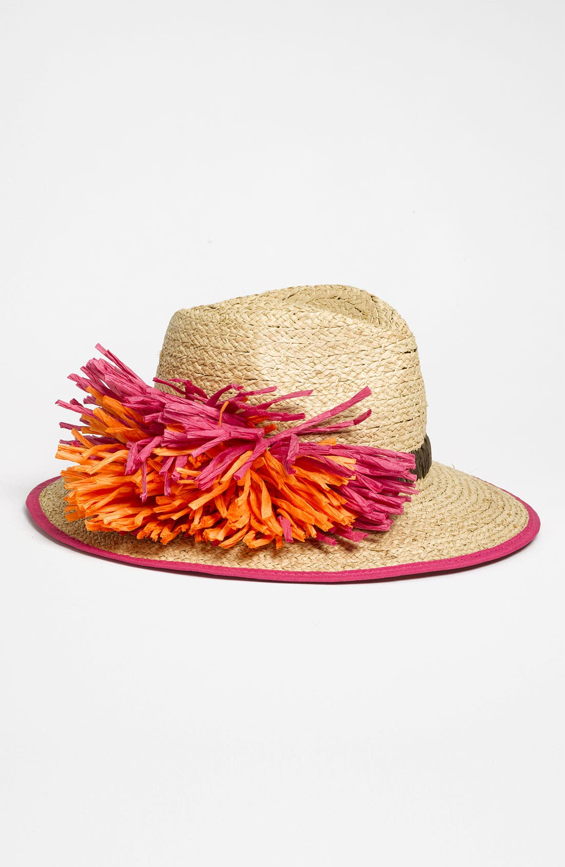 'Flower' Straw Fedora,                             Main thumbnail 3, color,