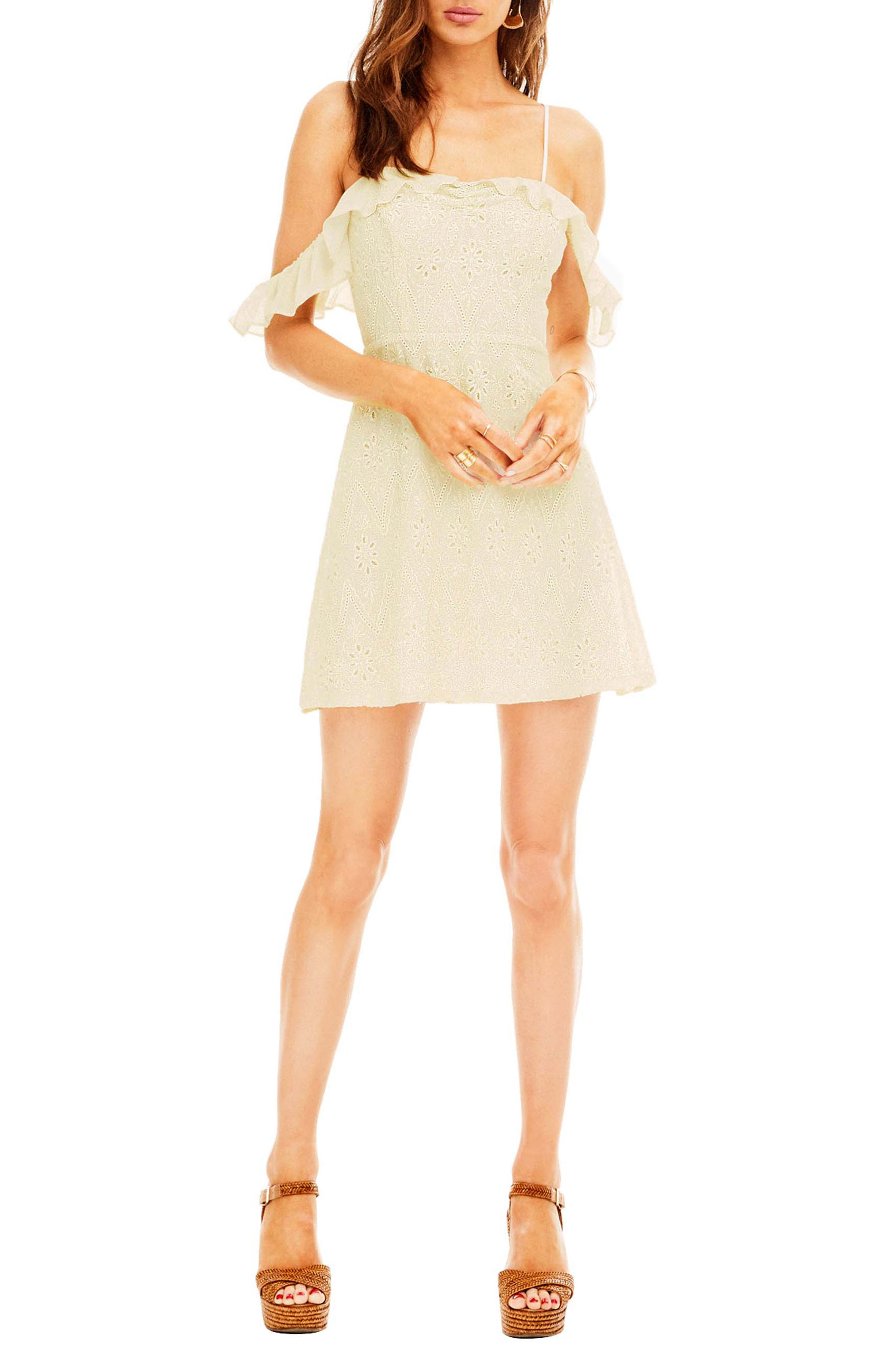 Astr The Label Kristin Cold Shoulder Dress, Ivory