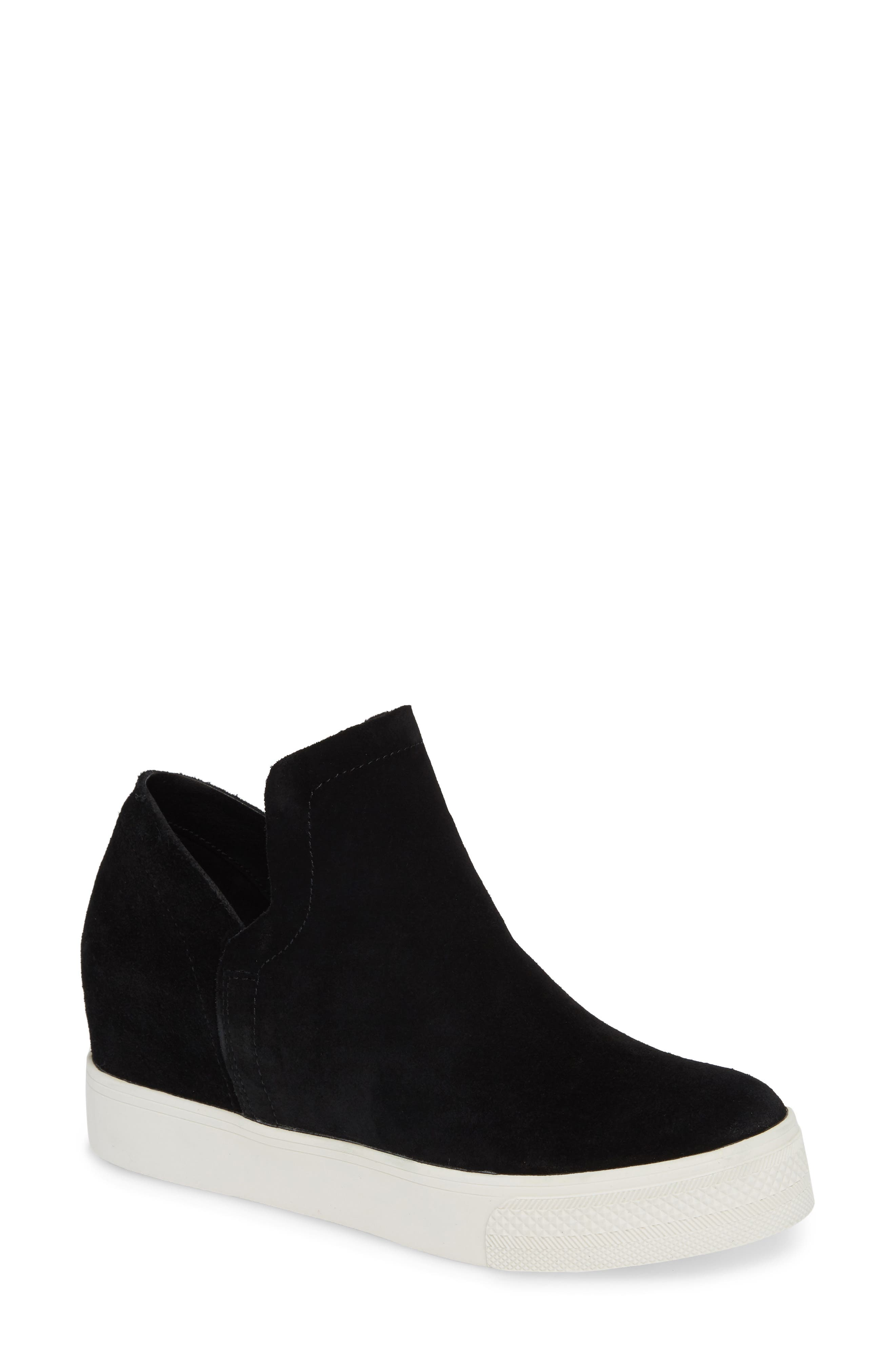 Wrangle Sneaker,                         Main,                         color, BLACK SUEDE