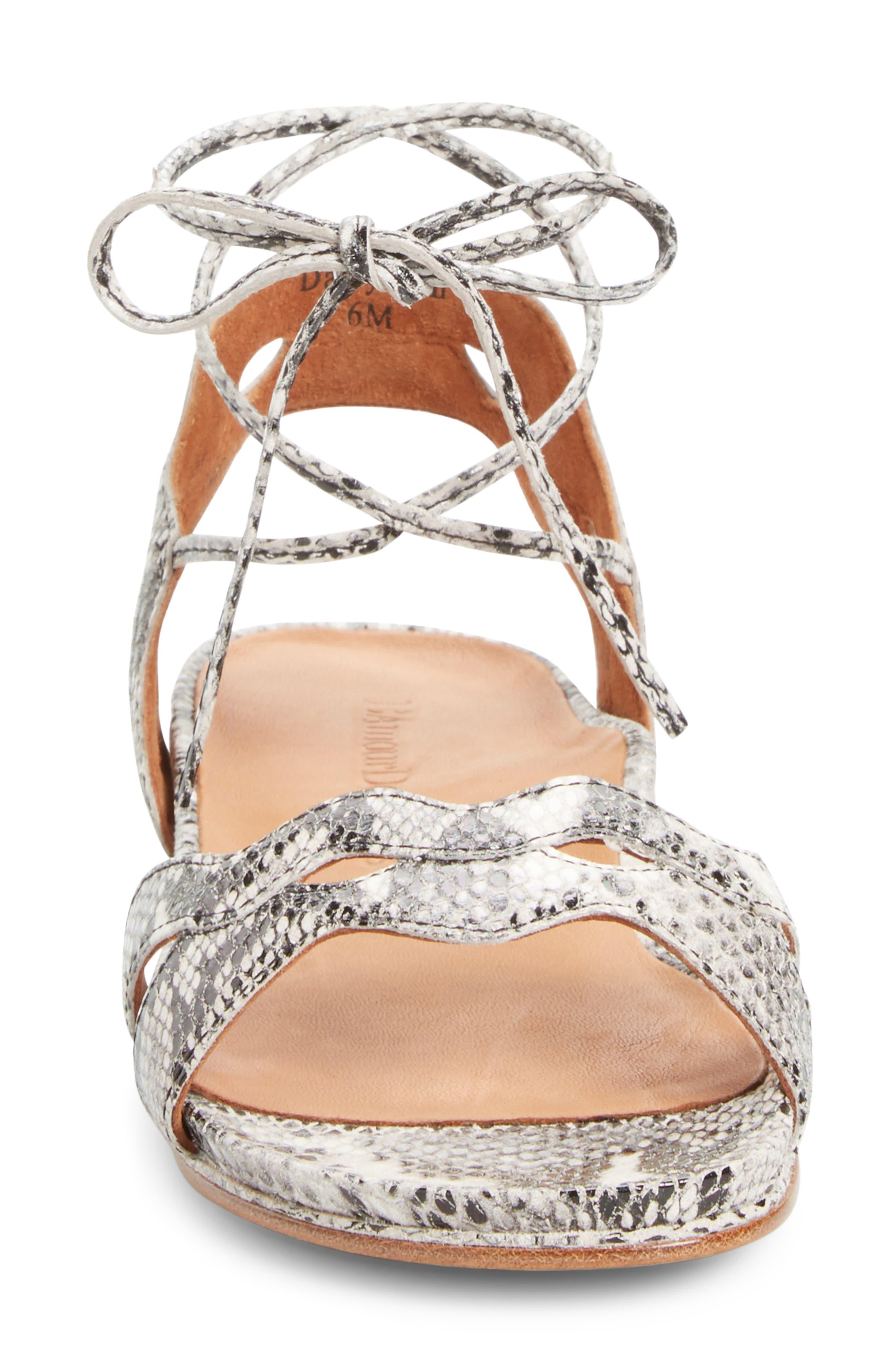 Darrylynn Wraparound Lace-Up Sandal,                             Alternate thumbnail 3, color,                             002