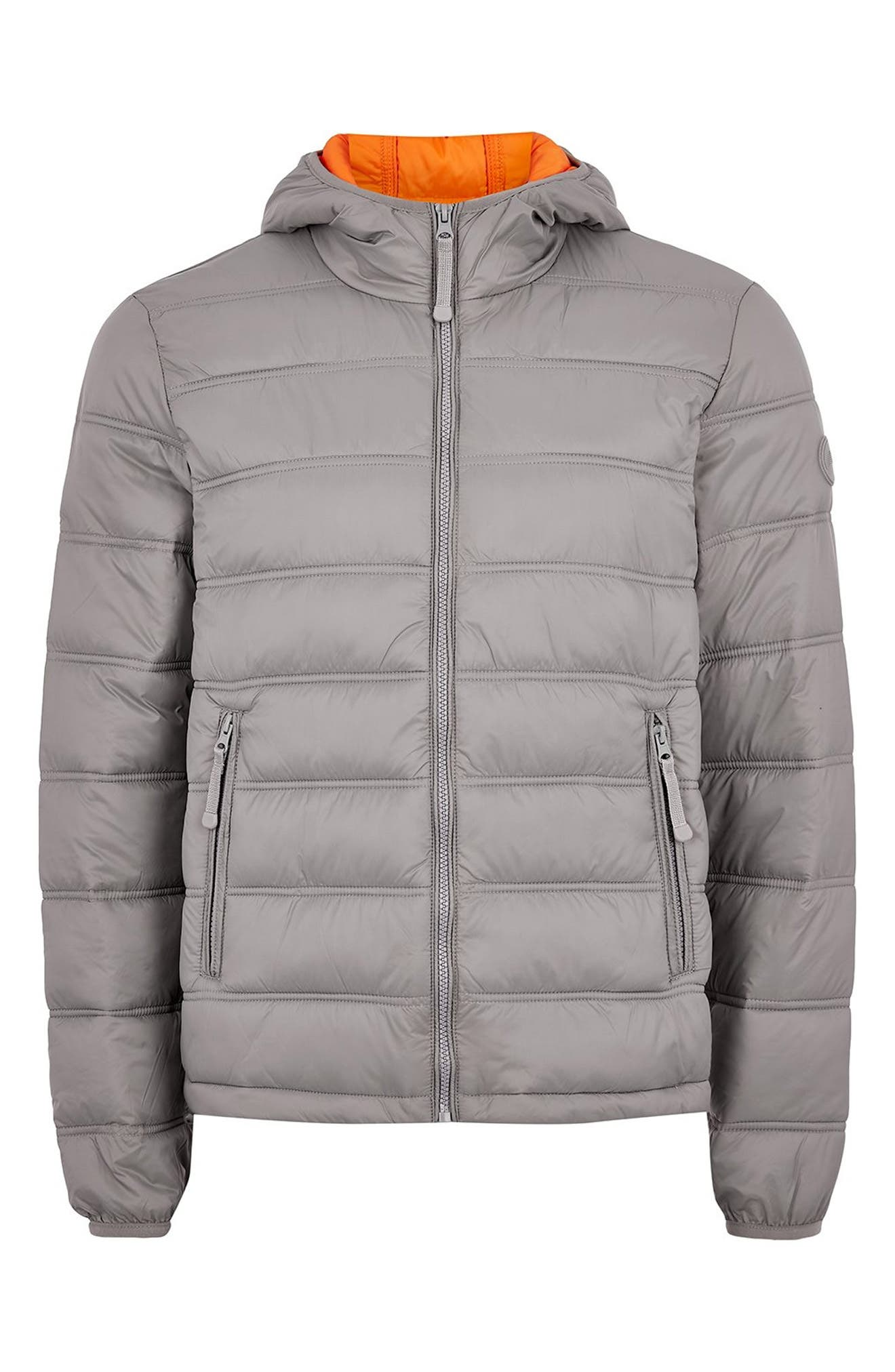 Terrain Classic Fit Quilted Jacket,                             Alternate thumbnail 3, color,                             LIGHT GREY