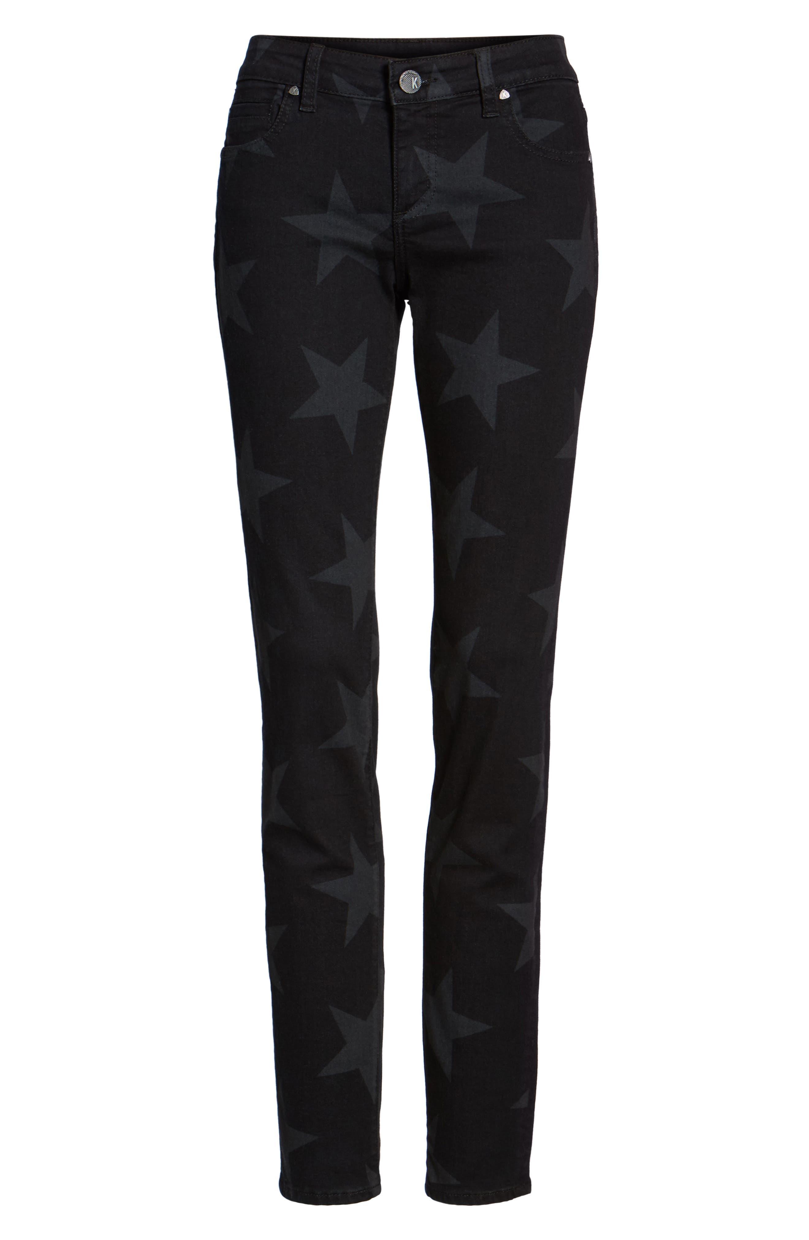 Mia Star Print Skinny Jeans,                             Alternate thumbnail 6, color,                             472