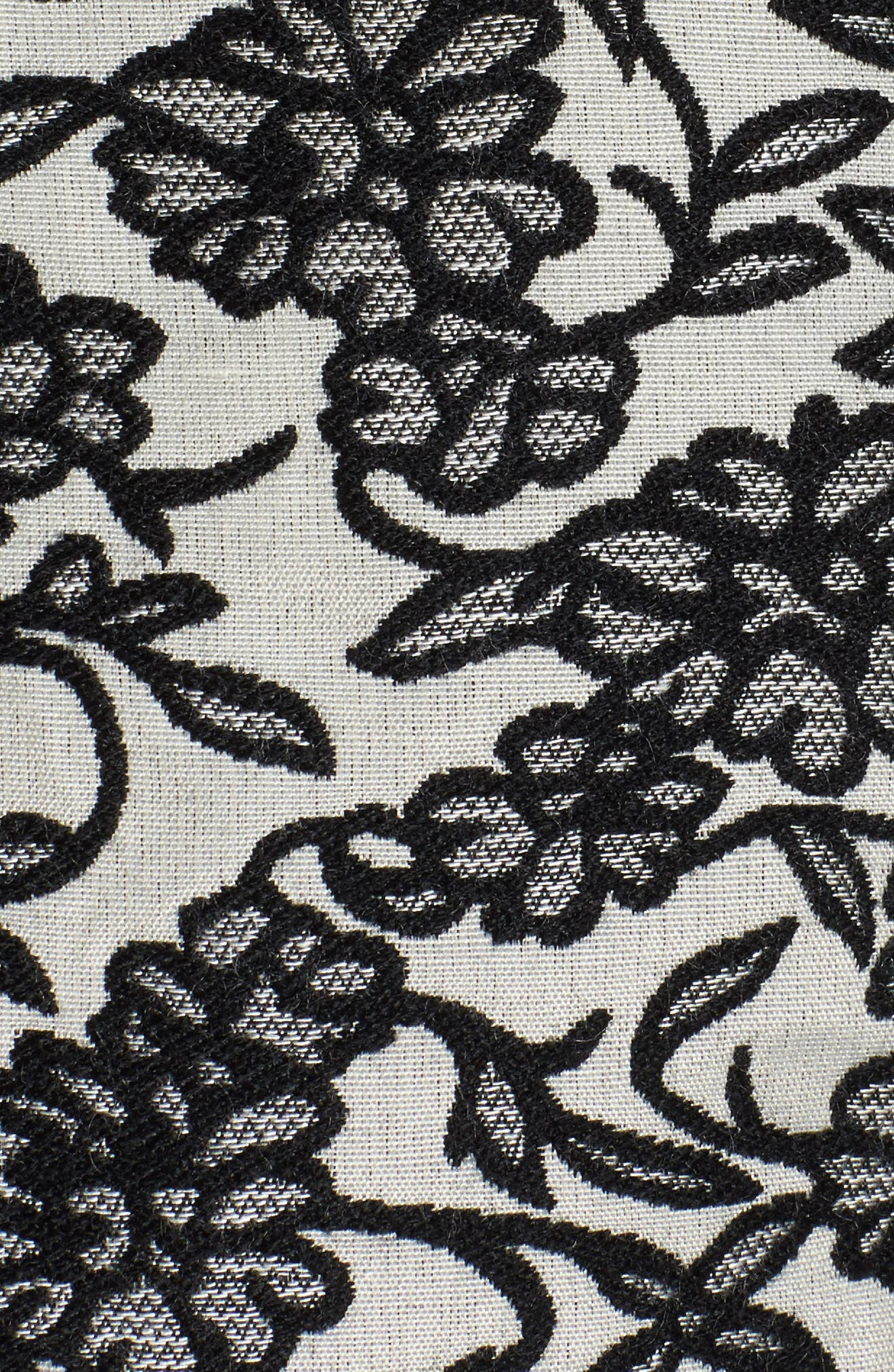 Addie Floral Brocade Bomber Jacket,                             Alternate thumbnail 6, color,                             001
