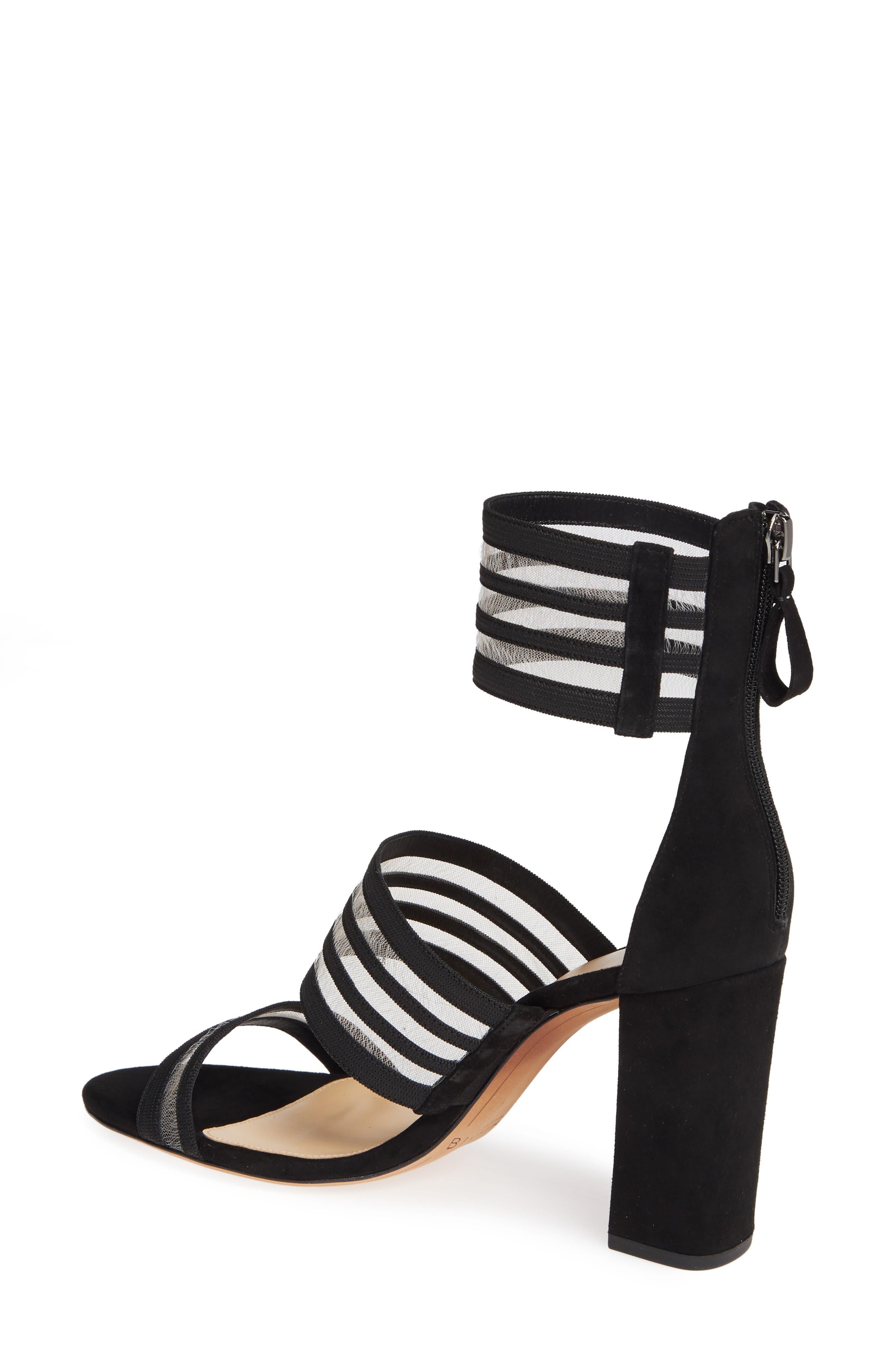 Shadow Ankle Strap Sandal,                             Alternate thumbnail 2, color,                             BLACK