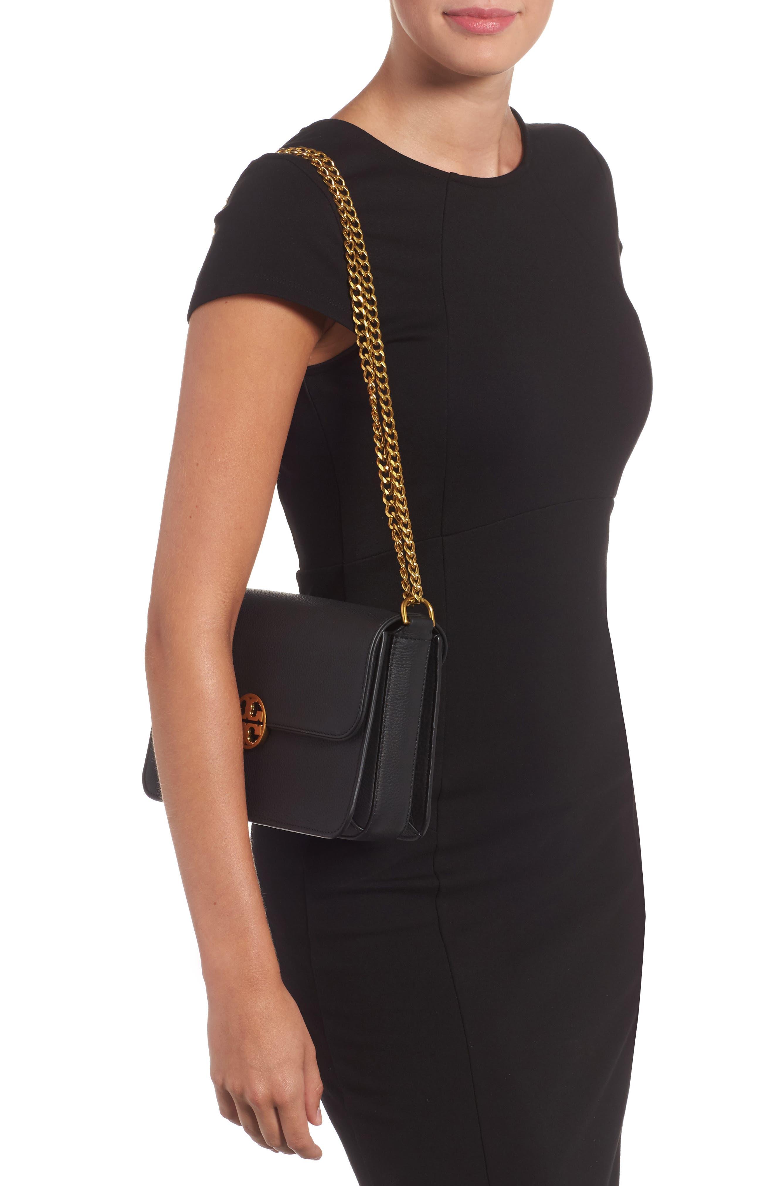 Chelsea Leather Shoulder Bag,                             Alternate thumbnail 2, color,                             001