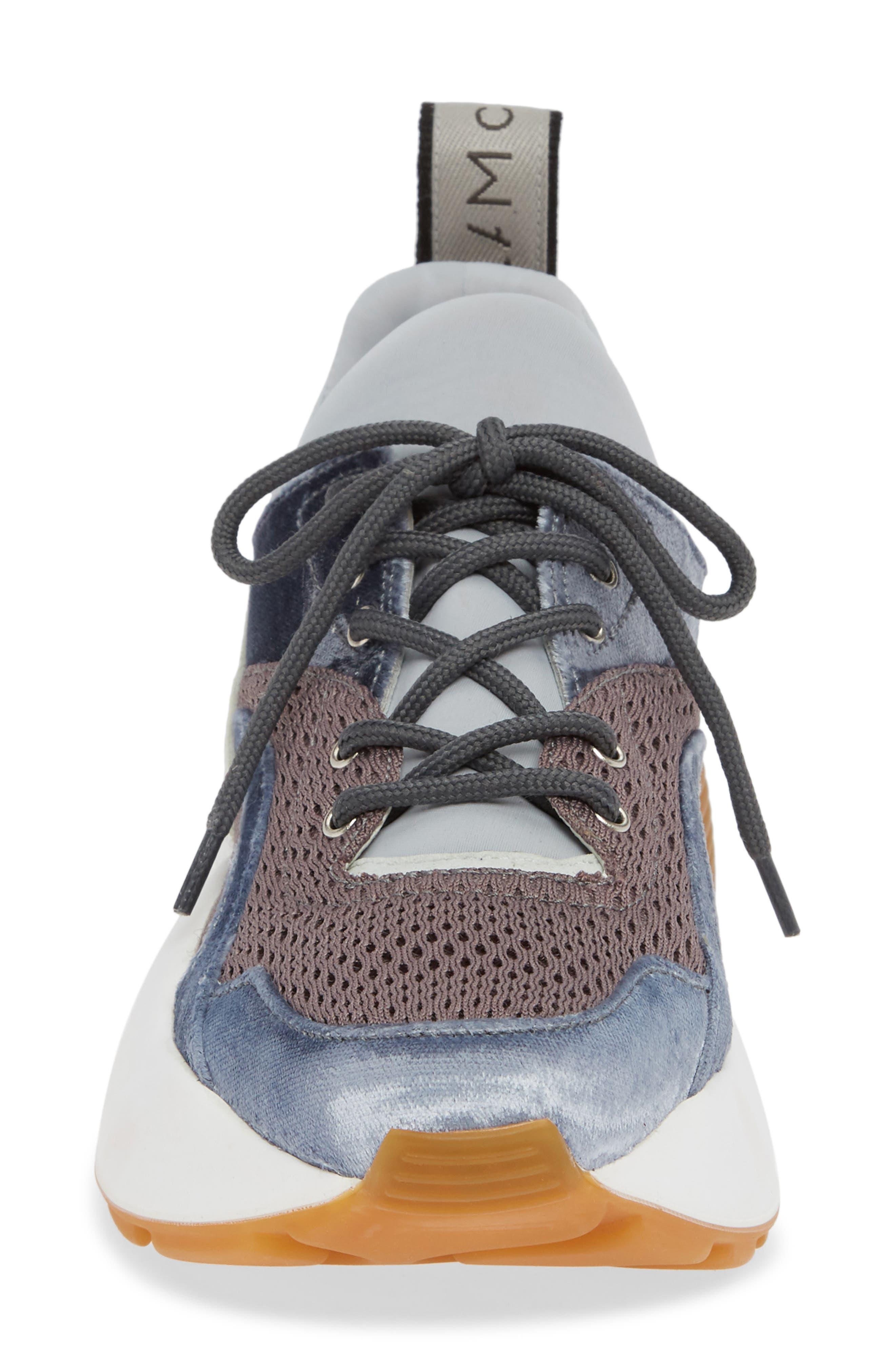 Eclypse Lace-Up Sneaker,                             Alternate thumbnail 4, color,                             GREY/ SILVER/ WHITE