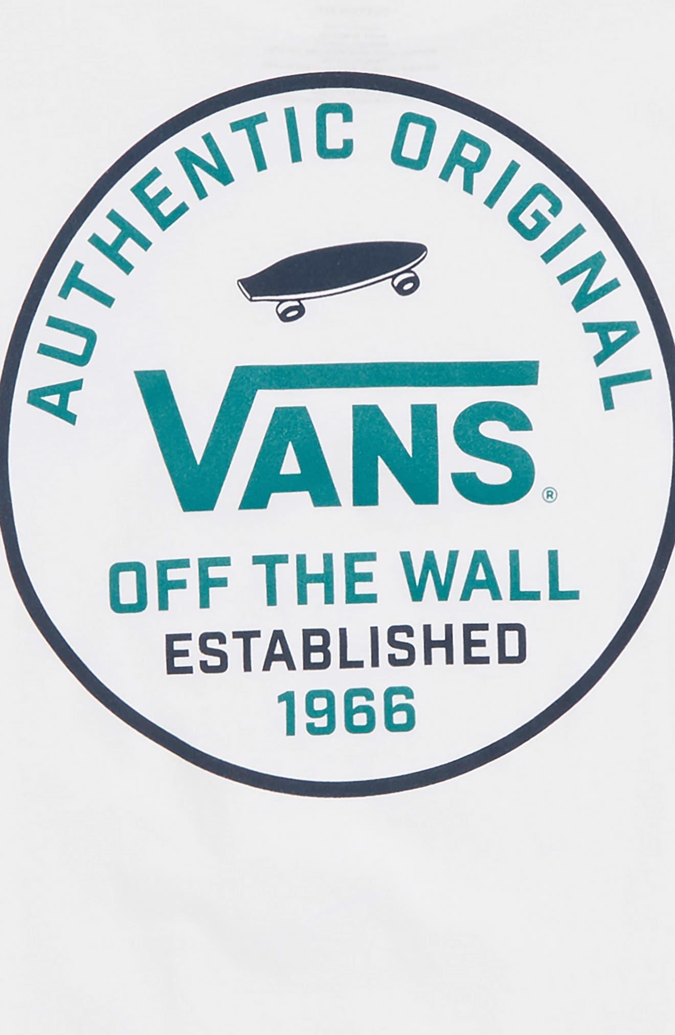 VANS,                             SVD Graphic T-Shirt,                             Alternate thumbnail 3, color,                             WHITE