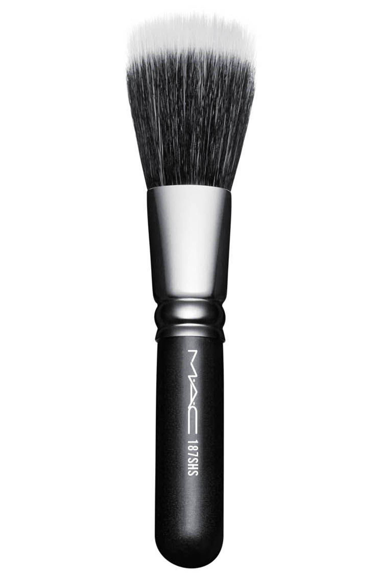 MAC 187SH Duo Fibre Face Brush,                             Main thumbnail 1, color,                             NO COLOR