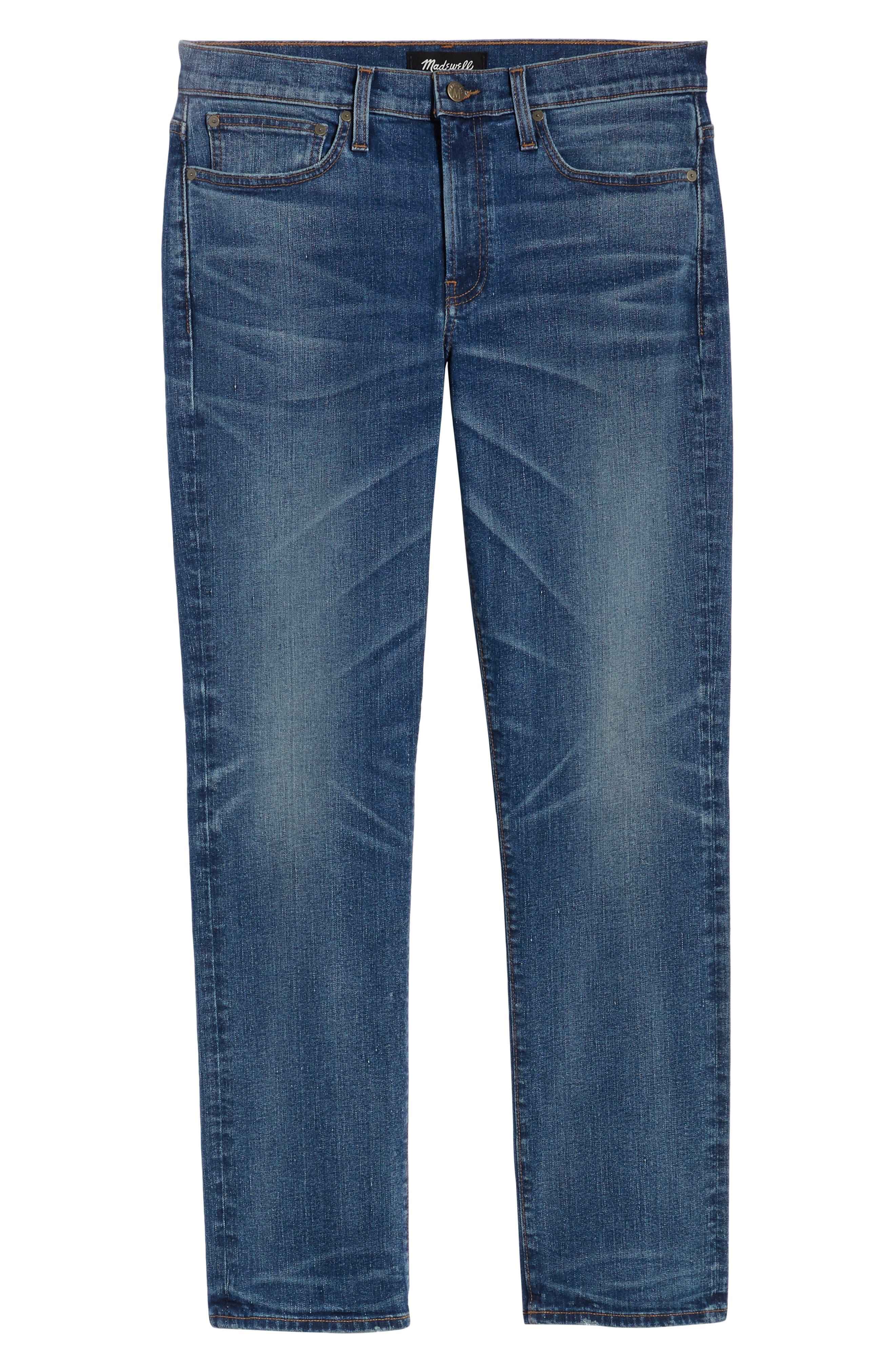 MADEWELL,                             Straight Leg Jeans,                             Alternate thumbnail 7, color,                             ARCWOOD