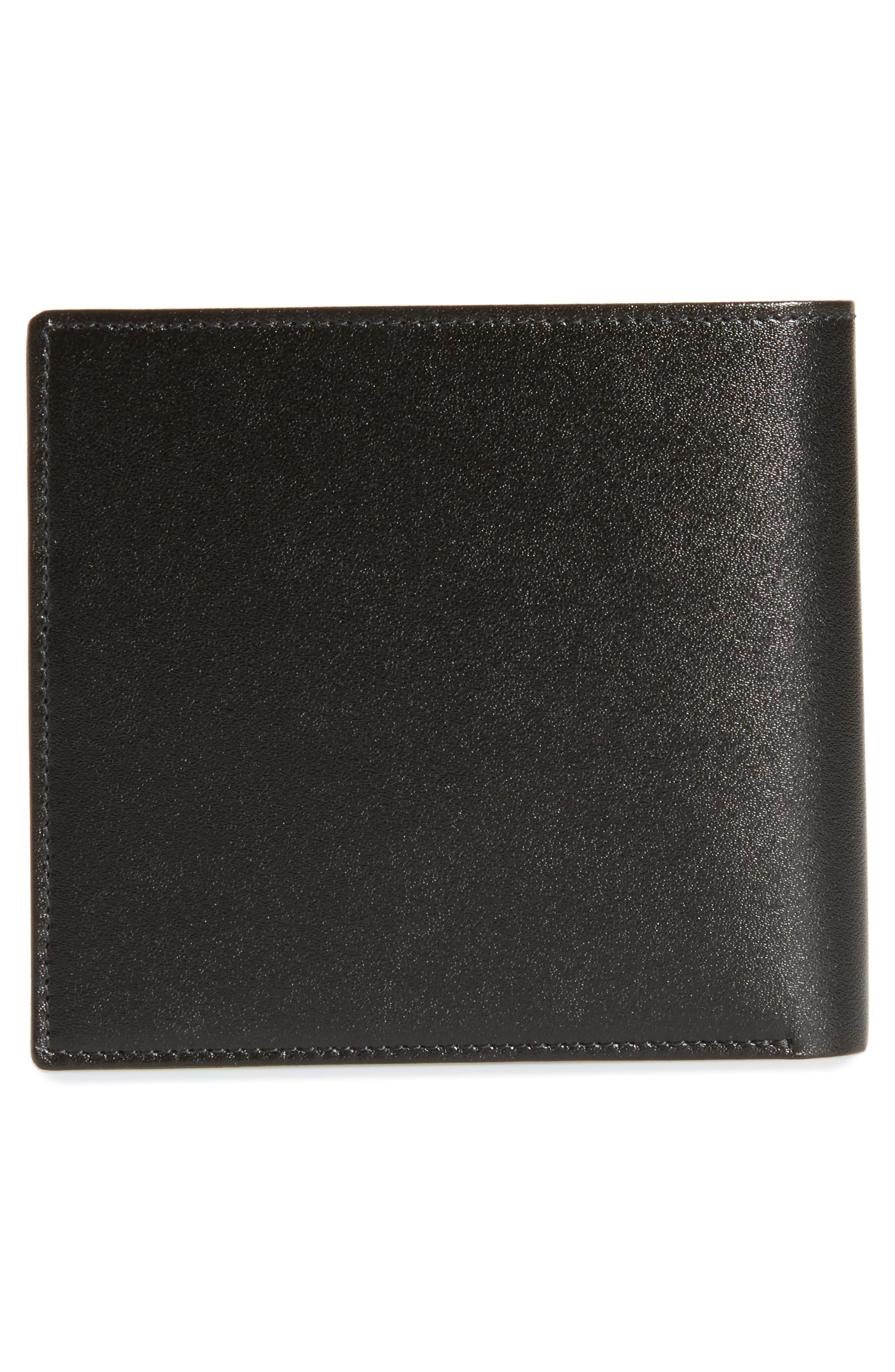 Meisterstück Leather Wallet,                             Alternate thumbnail 3, color,                             BLACK