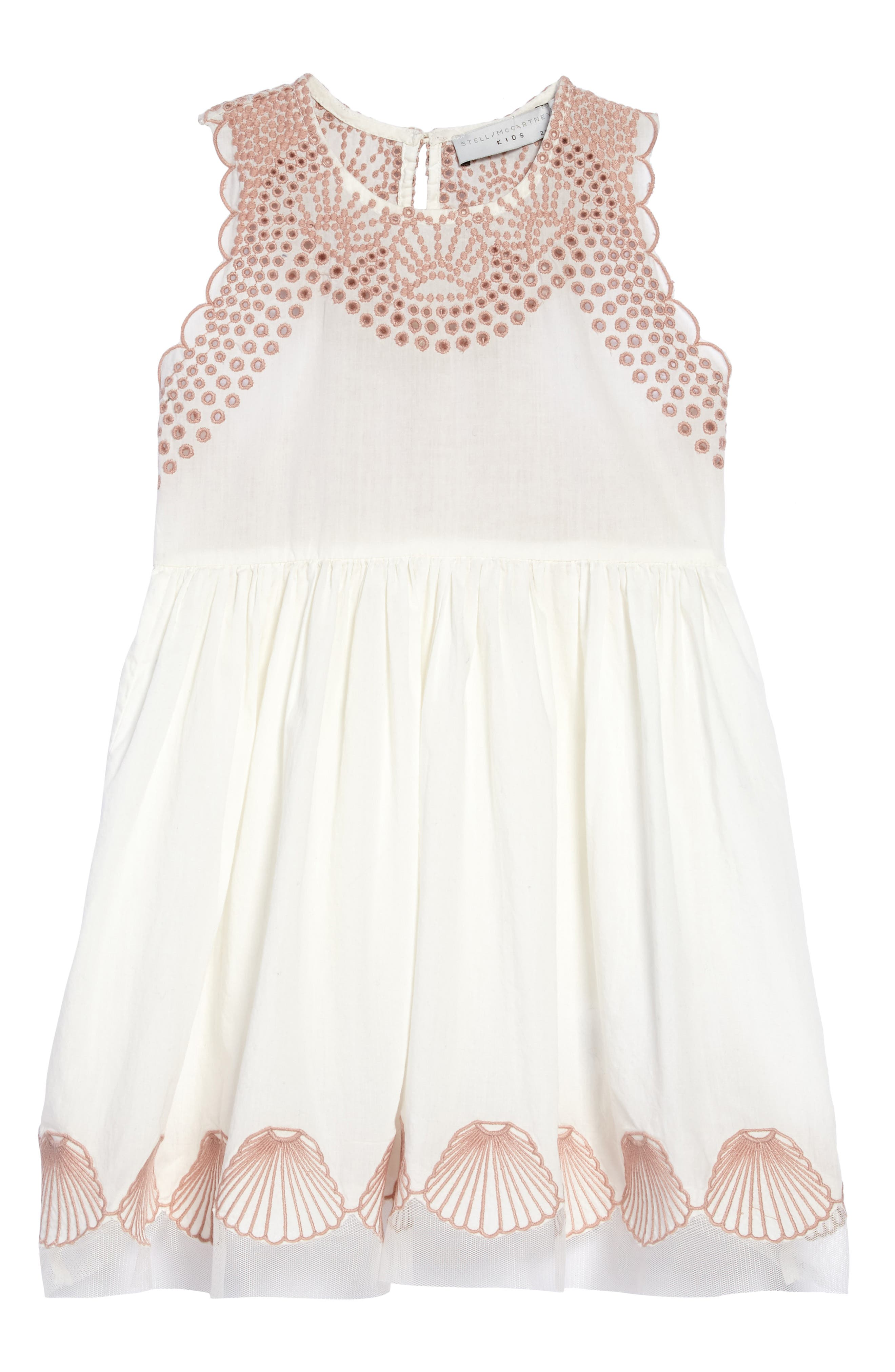 STELLA MCCARTNEY,                             Embroidered Sleeveless Dress,                             Main thumbnail 1, color,                             900