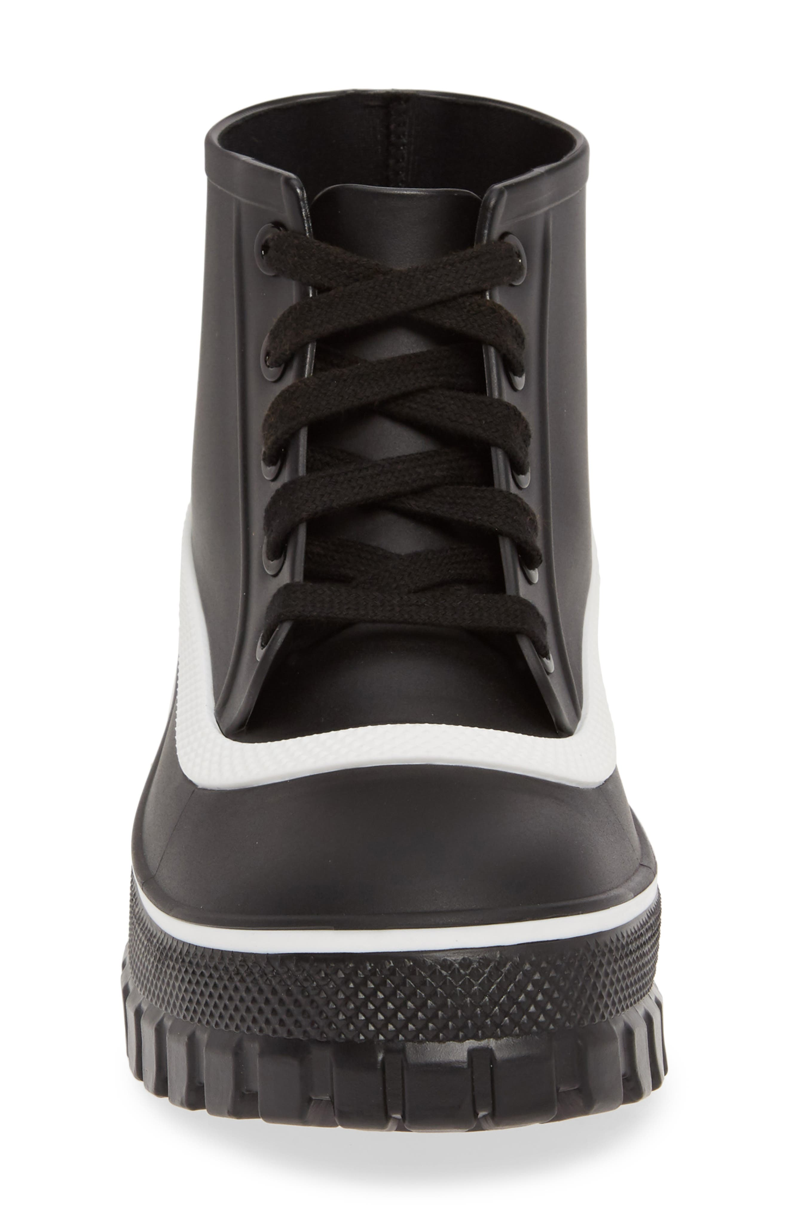 GIVENCHY,                             Glaston Waterproof Ankle Rain Boot,                             Alternate thumbnail 4, color,                             BLACK